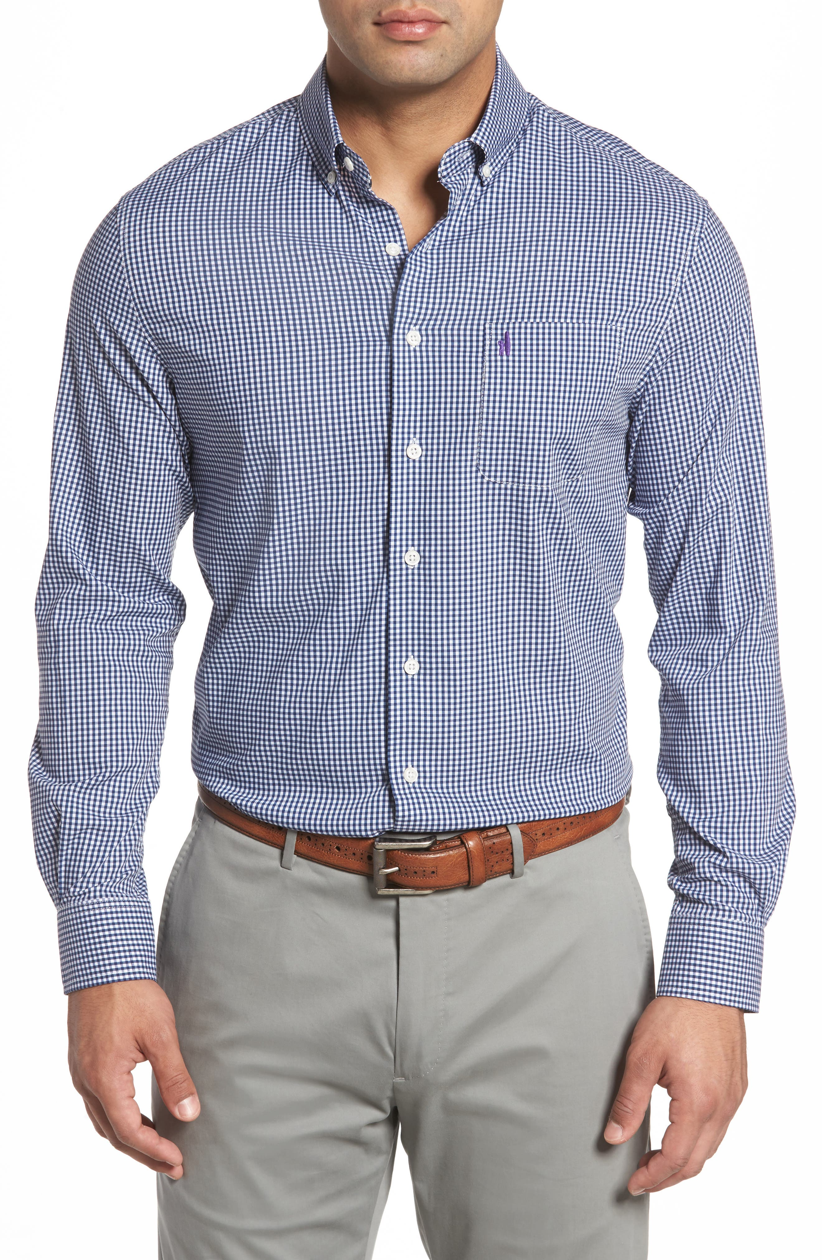 Augusta Classic Fit Check Sport Shirt,                         Main,                         color,