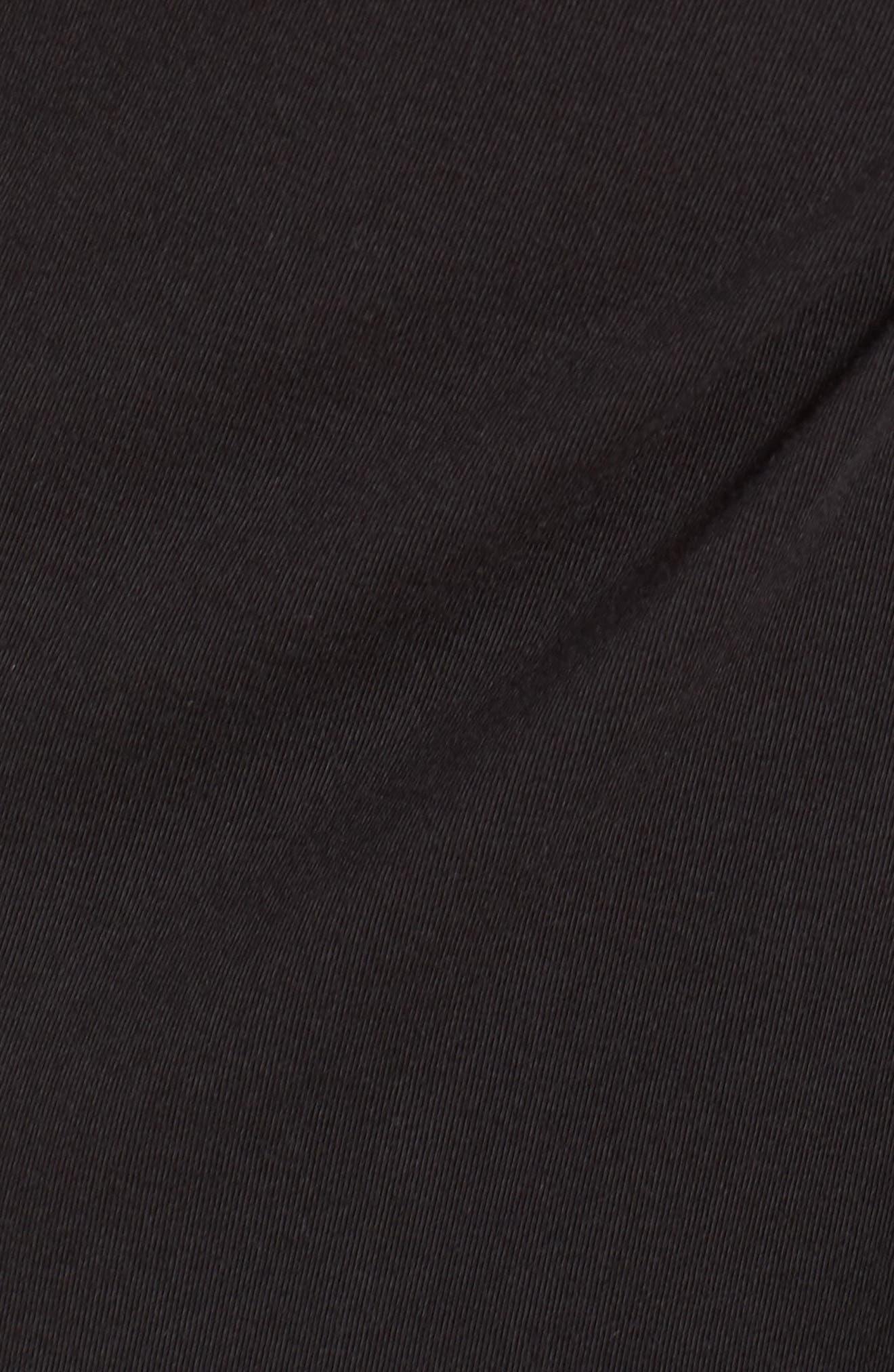 Knot Front T-Shirt Dress,                             Alternate thumbnail 5, color,                             004