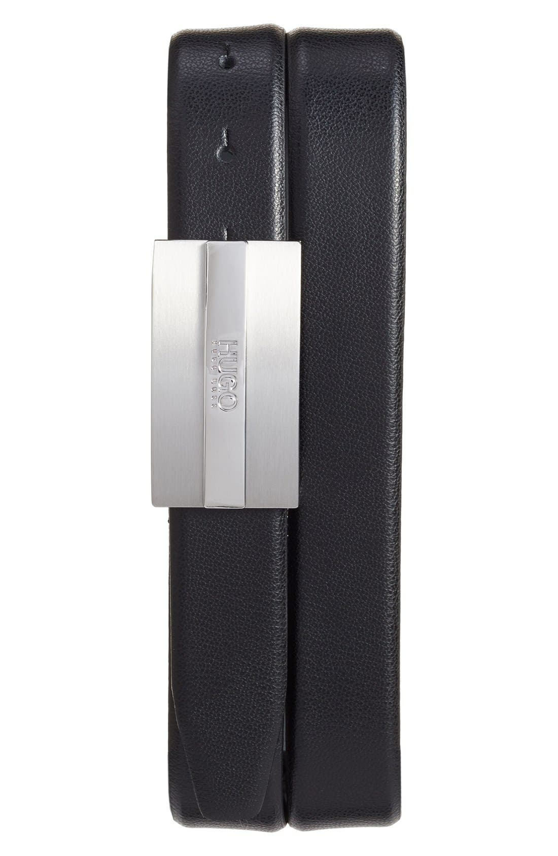 Baxter Leather Belt,                             Alternate thumbnail 3, color,