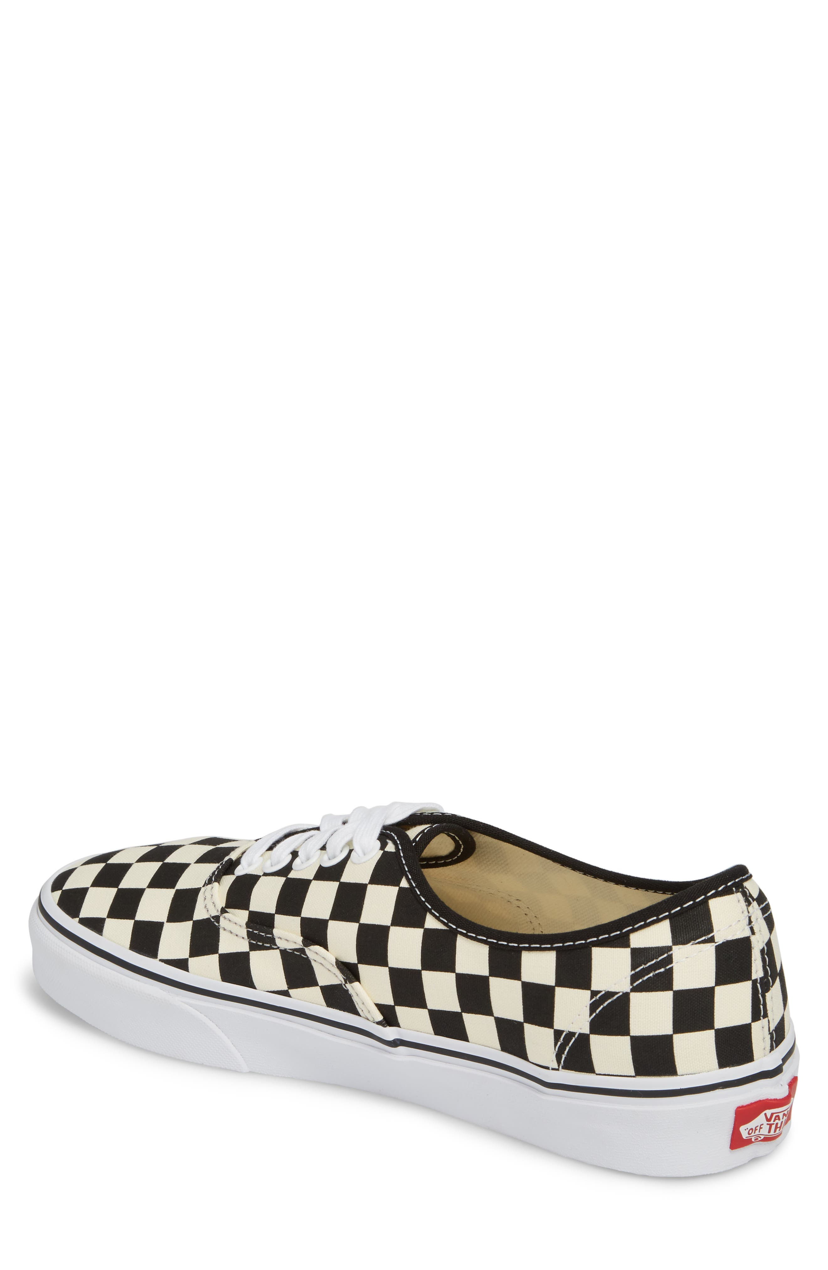 Authentic Golden Coast Sneaker,                             Alternate thumbnail 2, color,                             BLACK/ WHITE CHECKER