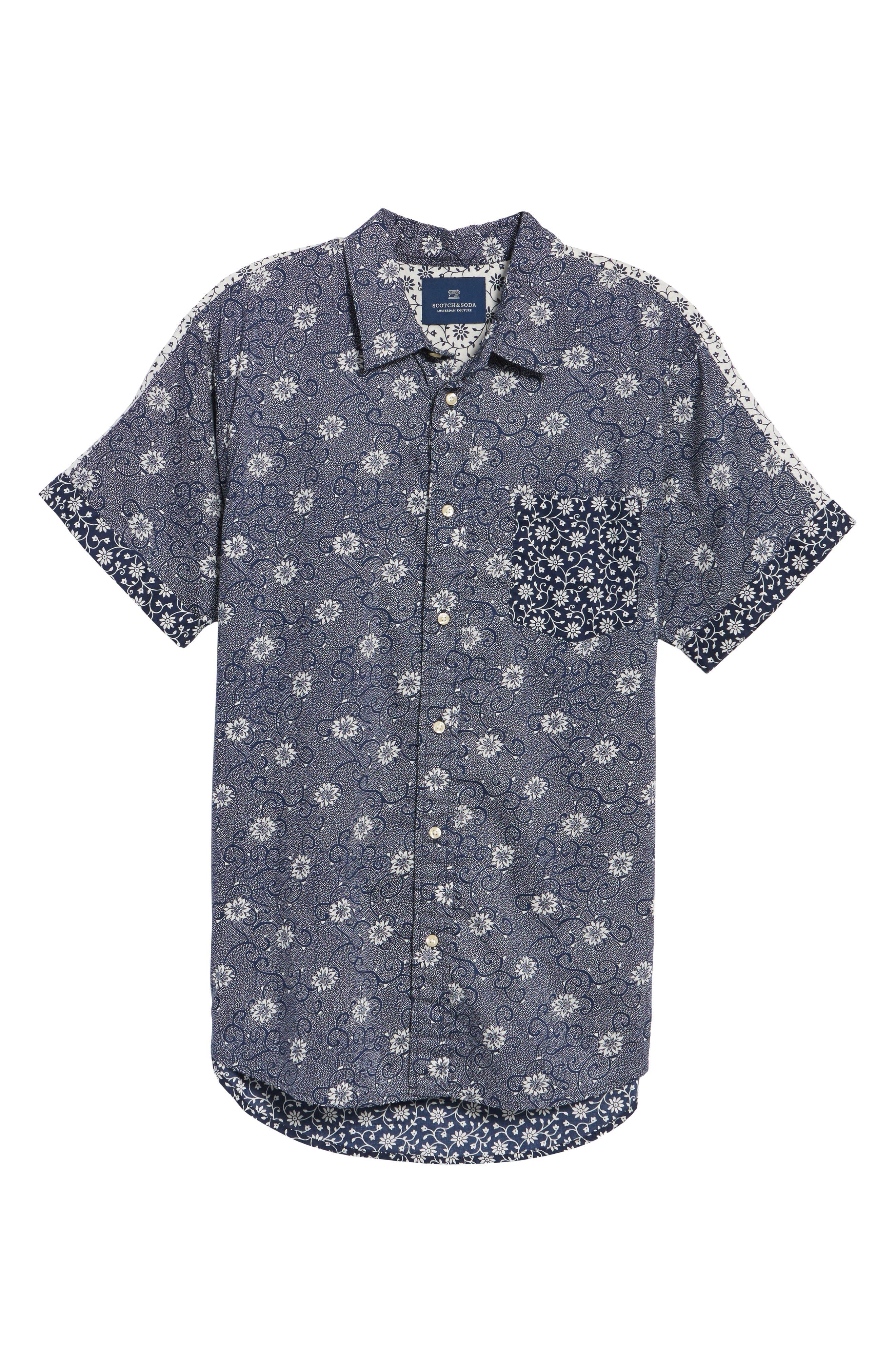 Mix & Match Print Woven Shirt,                             Alternate thumbnail 6, color,                             410