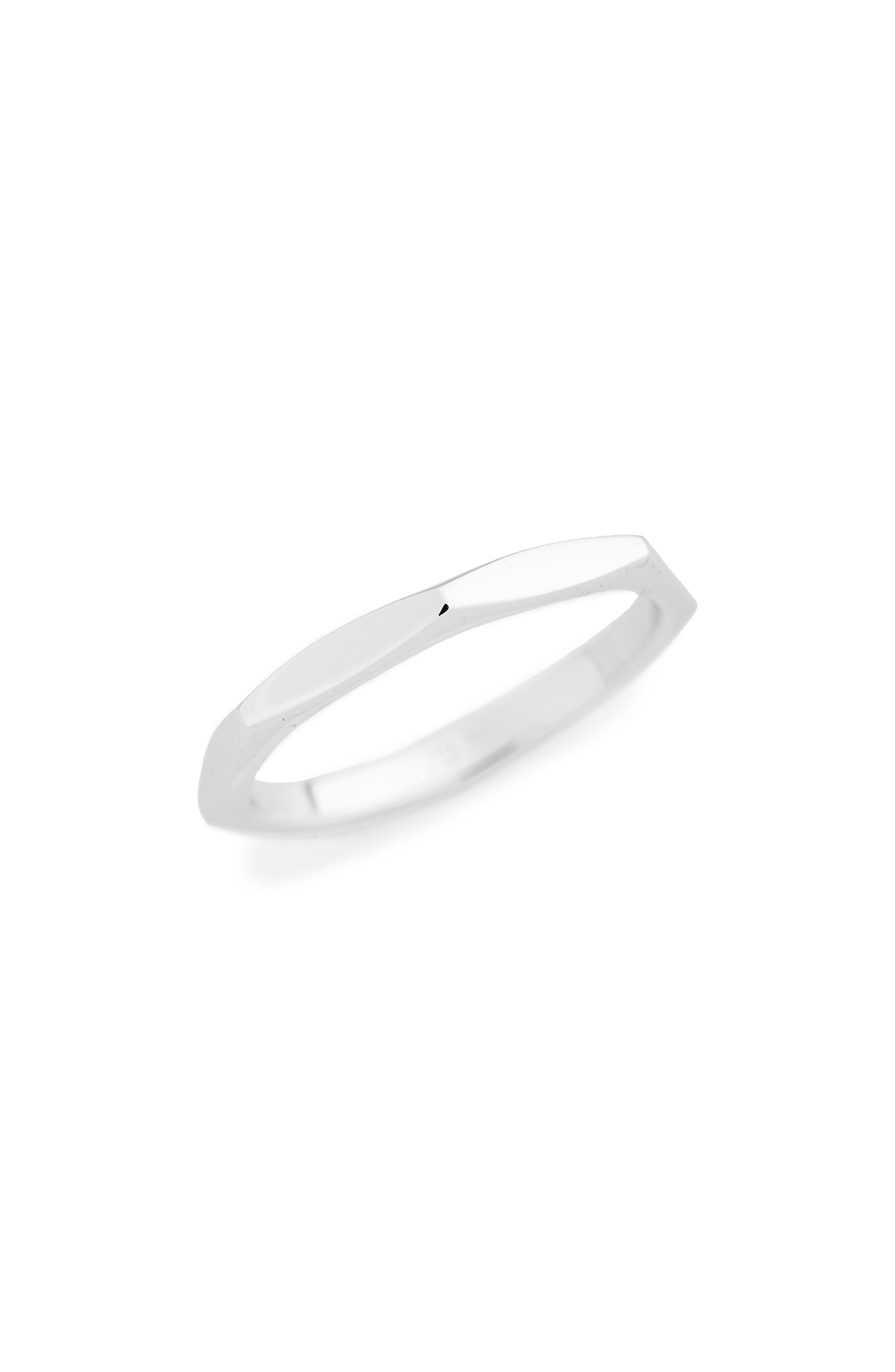 Geometric Band,                         Main,                         color, WHITE GOLD