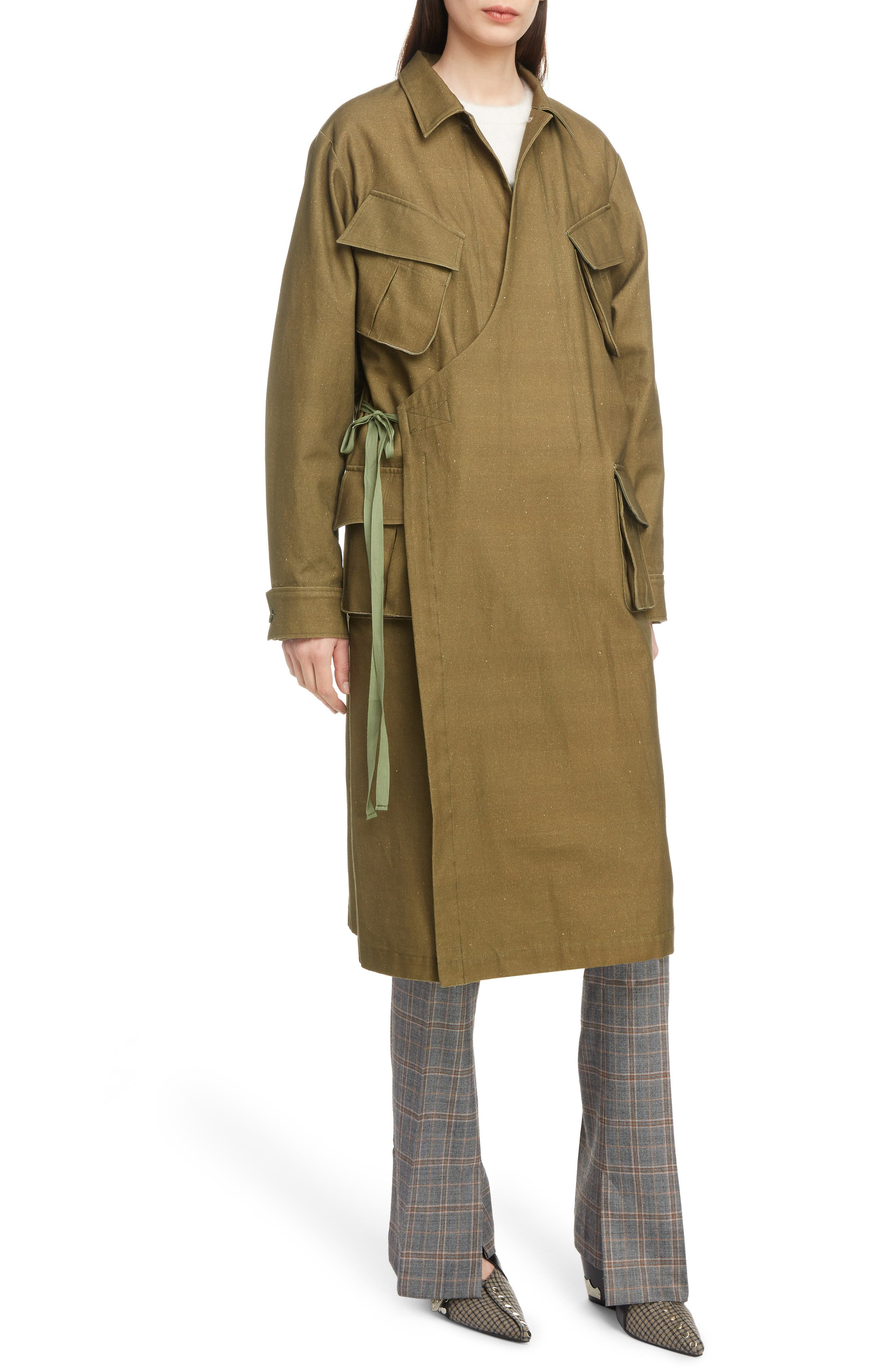 Gabardine Coat,                         Main,                         color, 09/ KHAKI