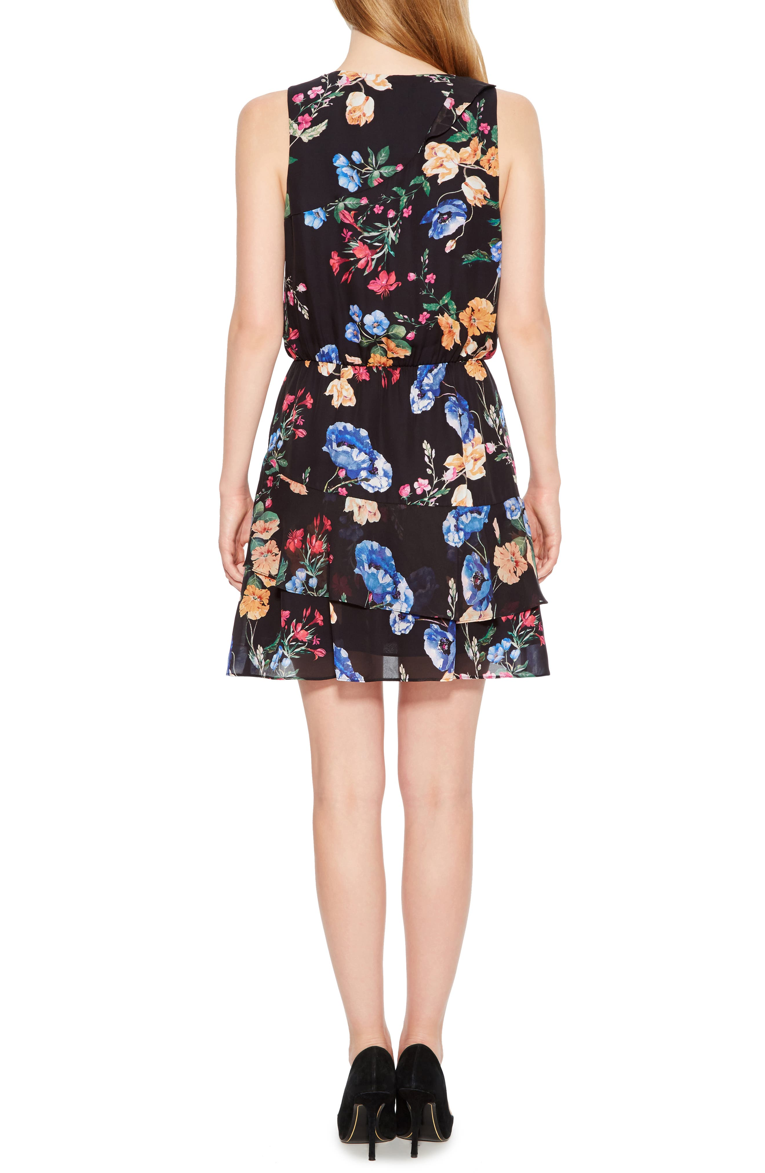 PARKER,                             Lexi Floral Dress,                             Alternate thumbnail 2, color,                             002