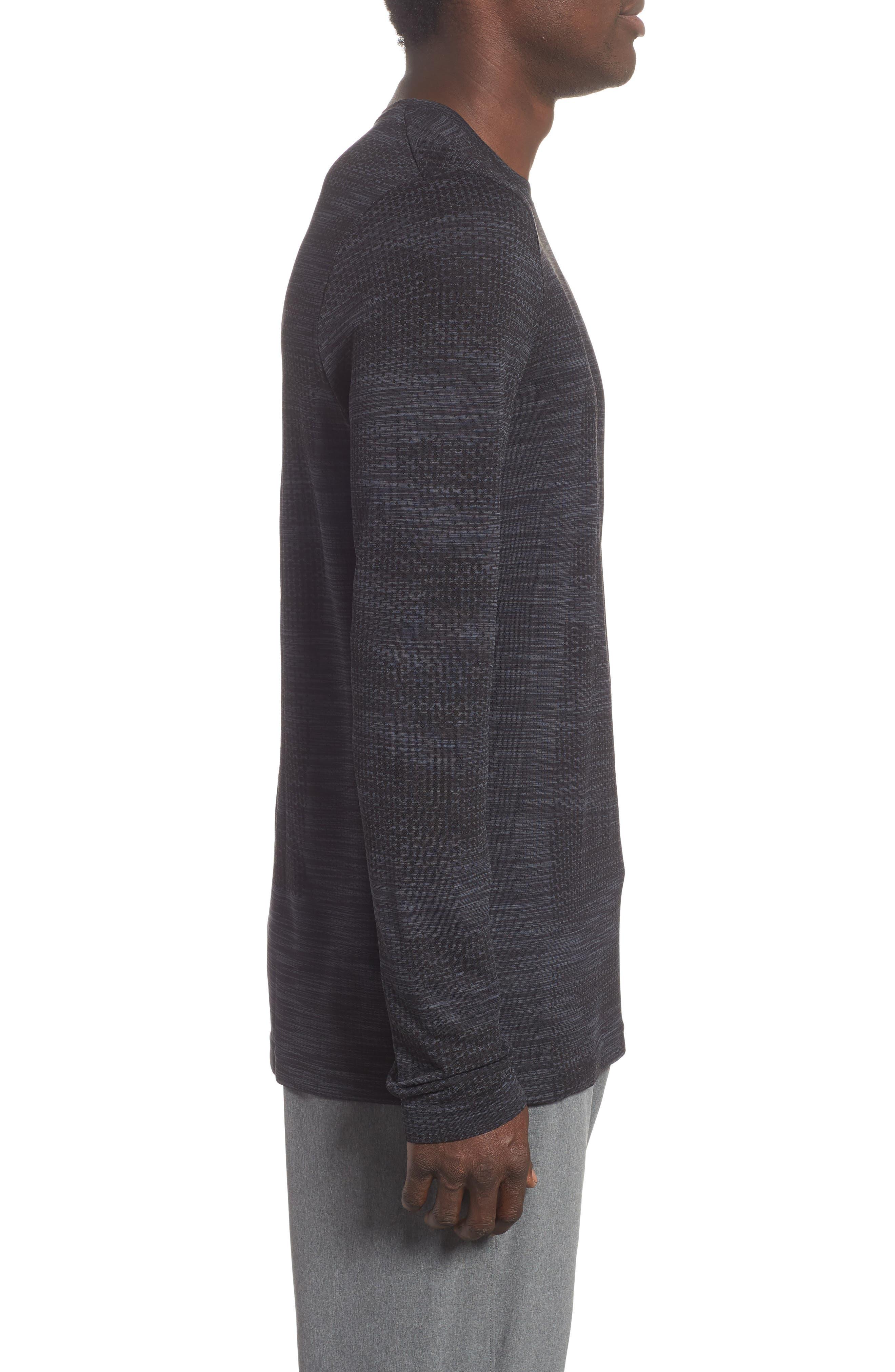 Siphon Long Sleeve Camo T-Shirt,                             Alternate thumbnail 3, color,                             001