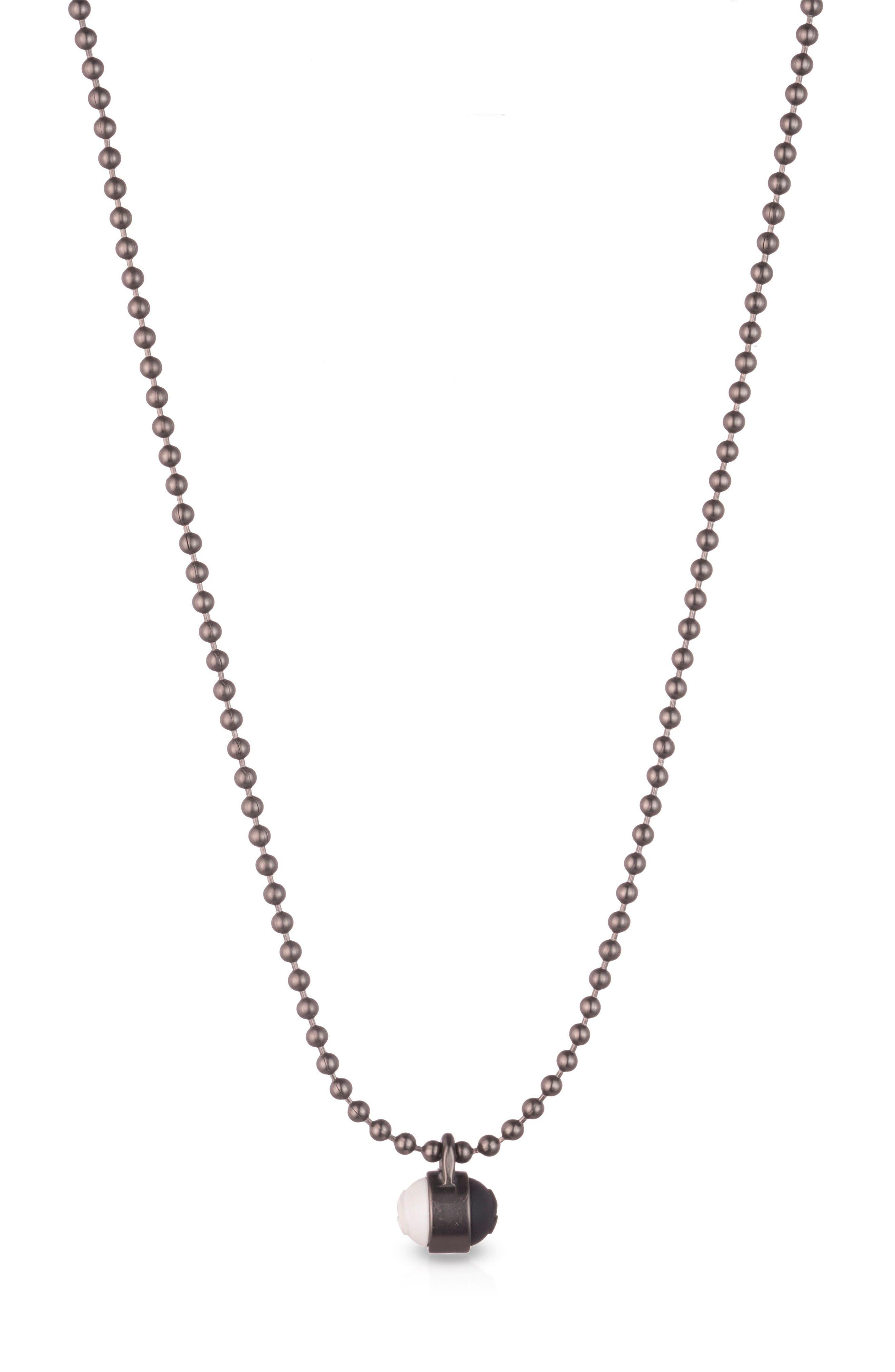 Pendant Ball Chain Necklace,                             Main thumbnail 1, color,