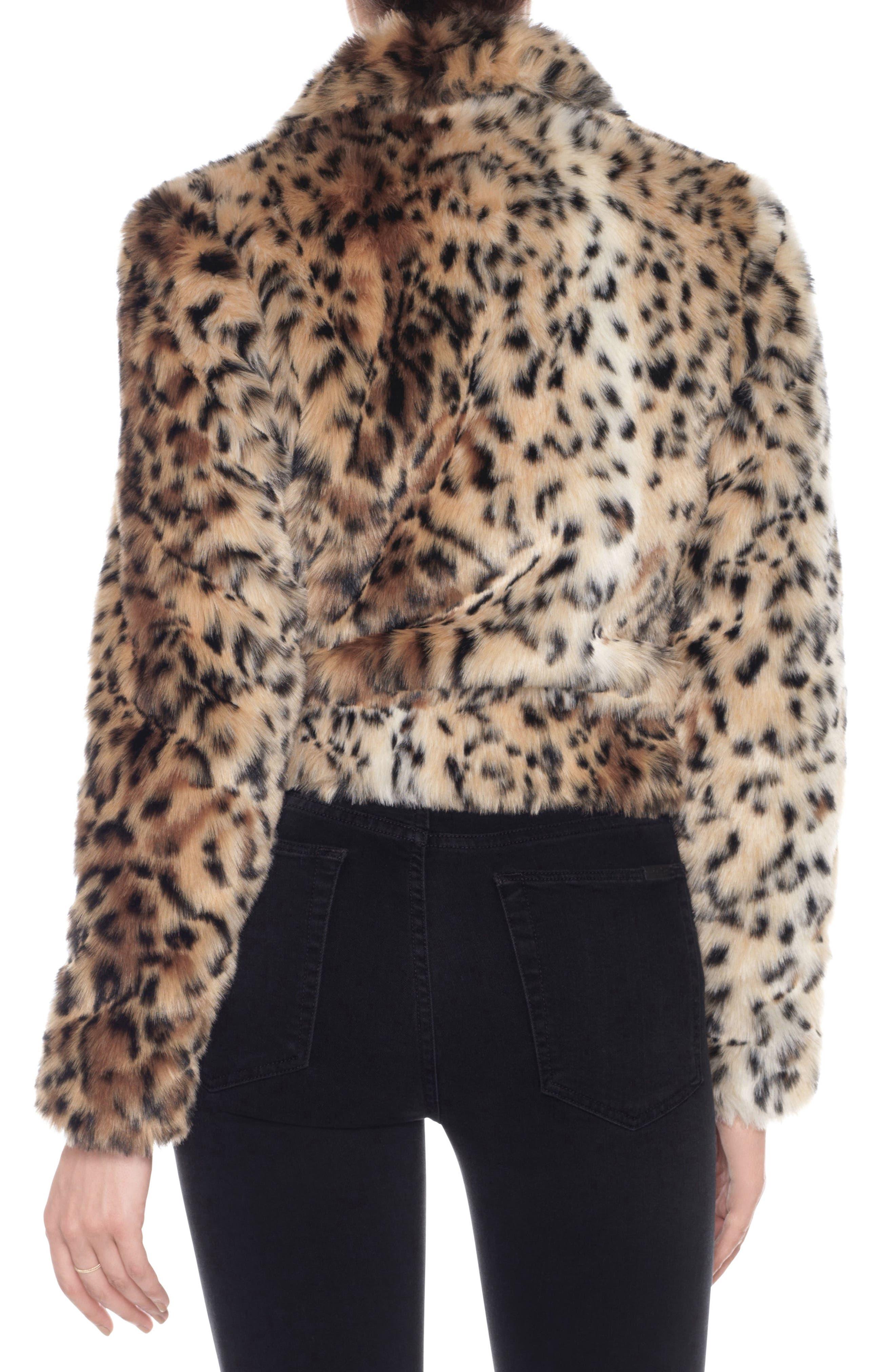 Kate Faux Fur Jacket,                             Alternate thumbnail 2, color,                             011