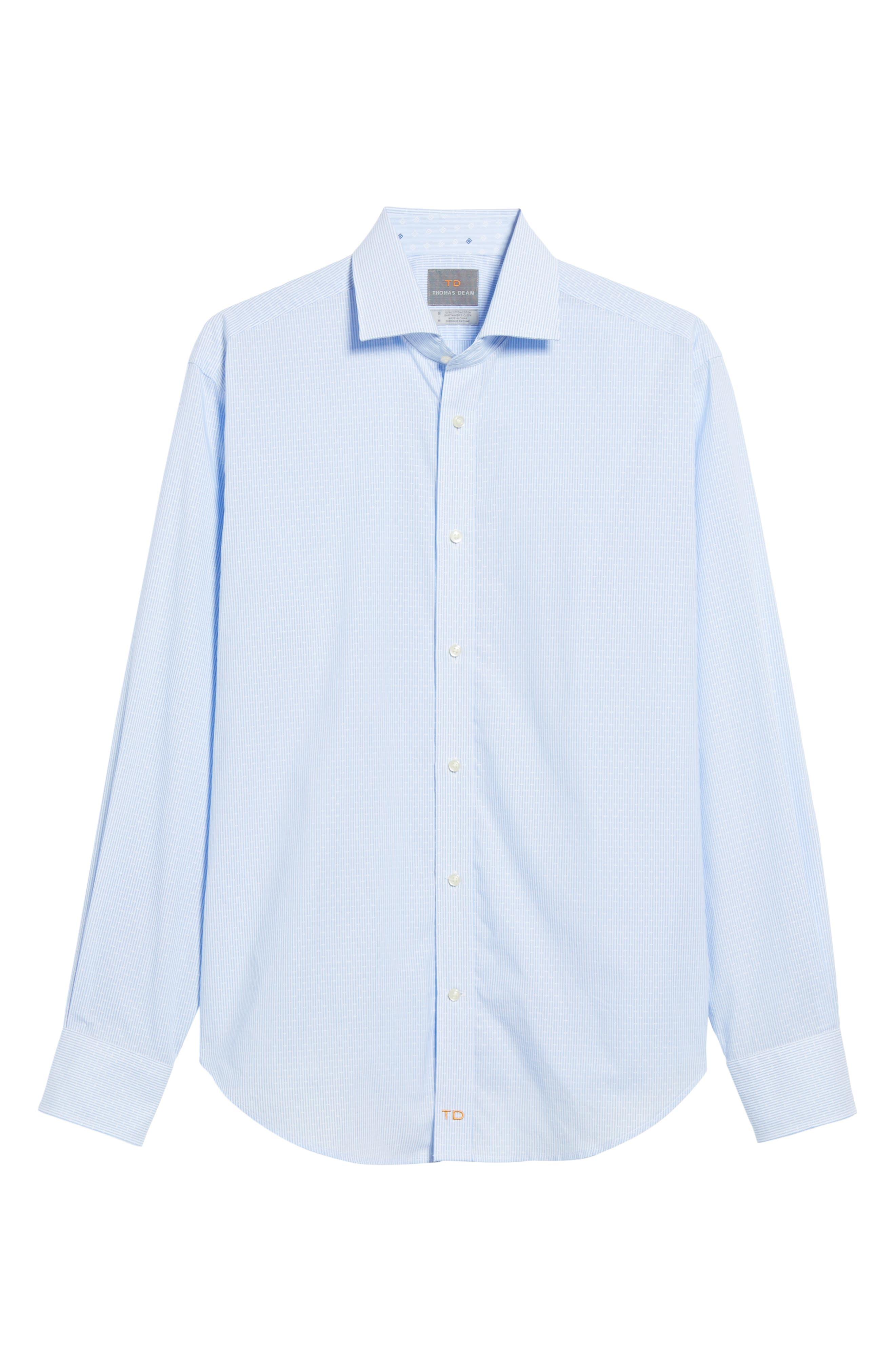 Regular Fit Stripe Sport Shirt,                             Alternate thumbnail 6, color,                             020