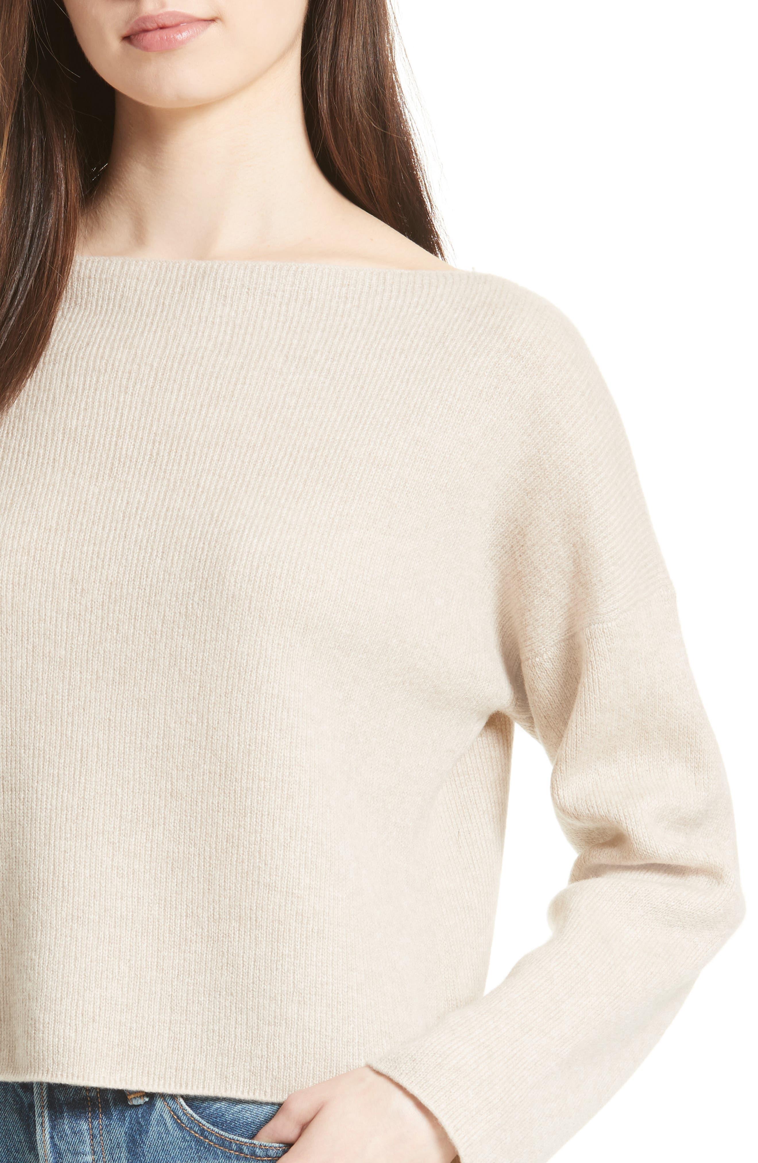 VINCE,                             Boxy Cashmere Sweater,                             Alternate thumbnail 4, color,                             233