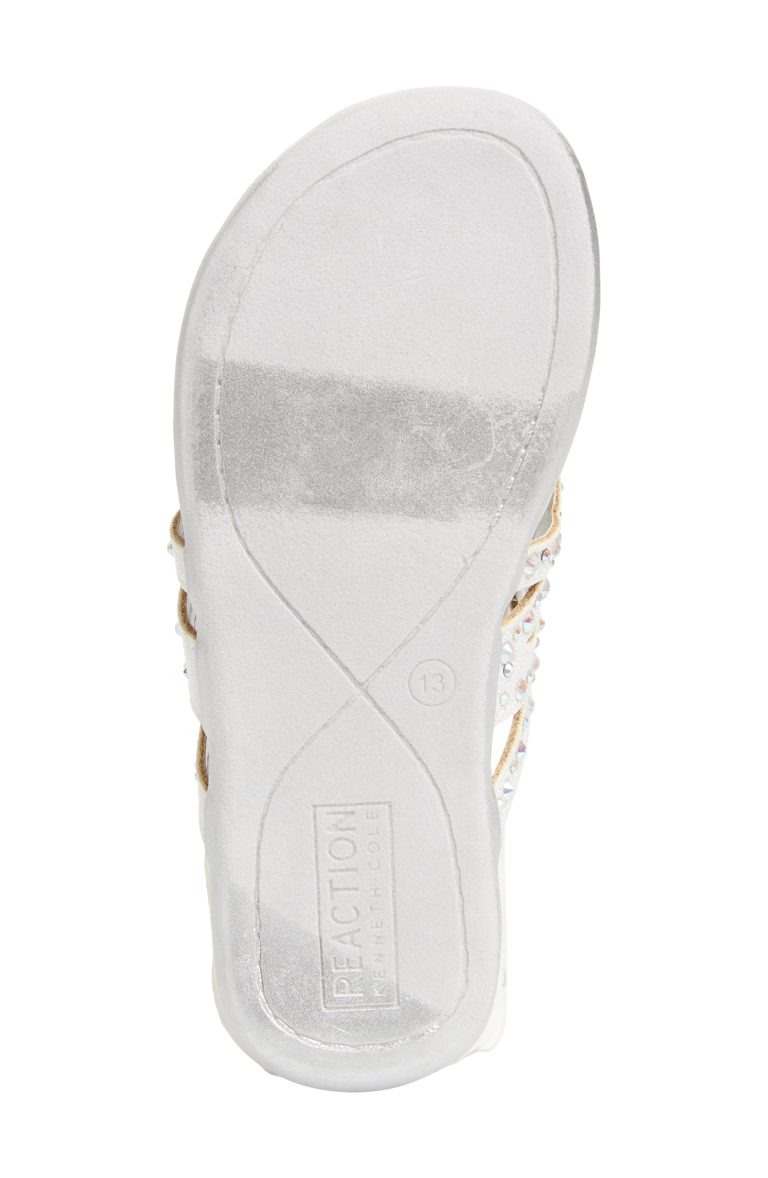 REACTION KENNETH COLE,                             Kenneth Cole New York Flutter Metallic Crystal Thong Sandal,                             Alternate thumbnail 6, color,                             044