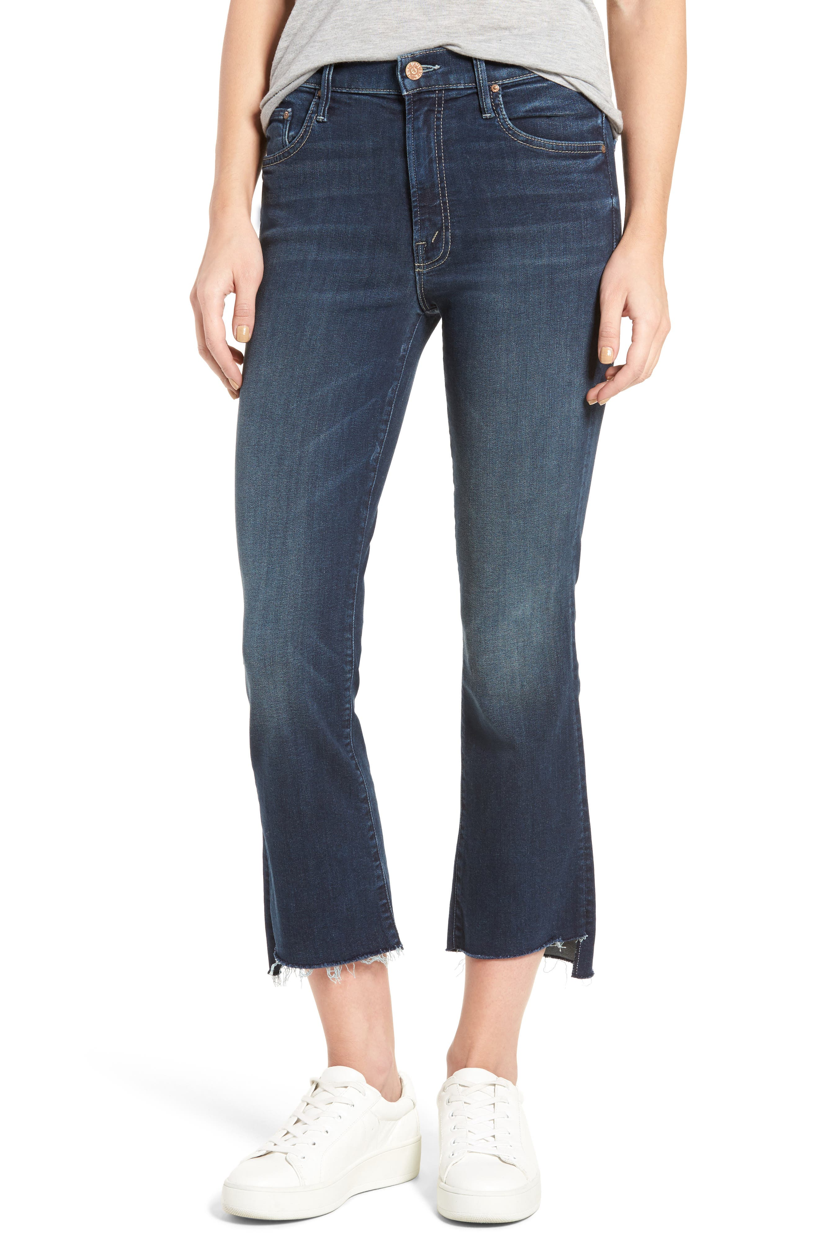 The Insider Step Hem Crop Bootcut Jeans, Main, color, 439