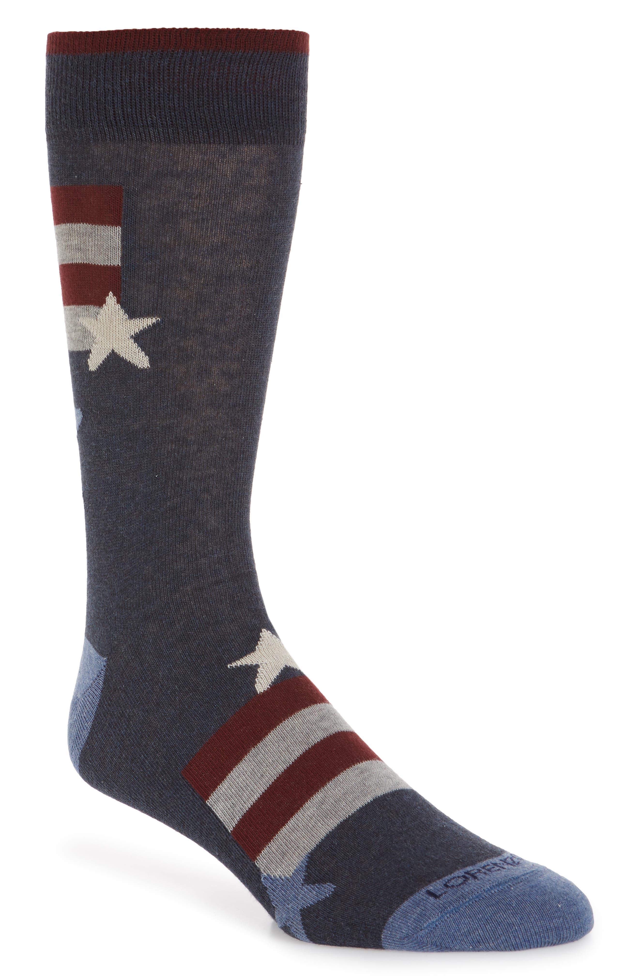 Stars and Stripes Socks,                             Main thumbnail 1, color,                             DENIM
