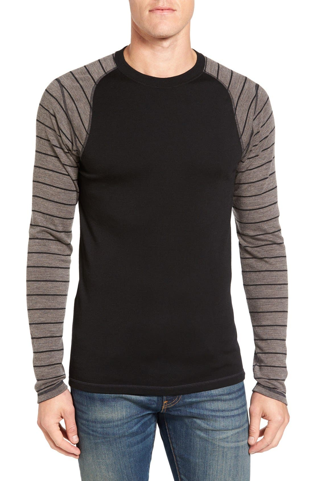 Merino 250 Base Layer Pattern Crewneck T-Shirt,                             Main thumbnail 5, color,