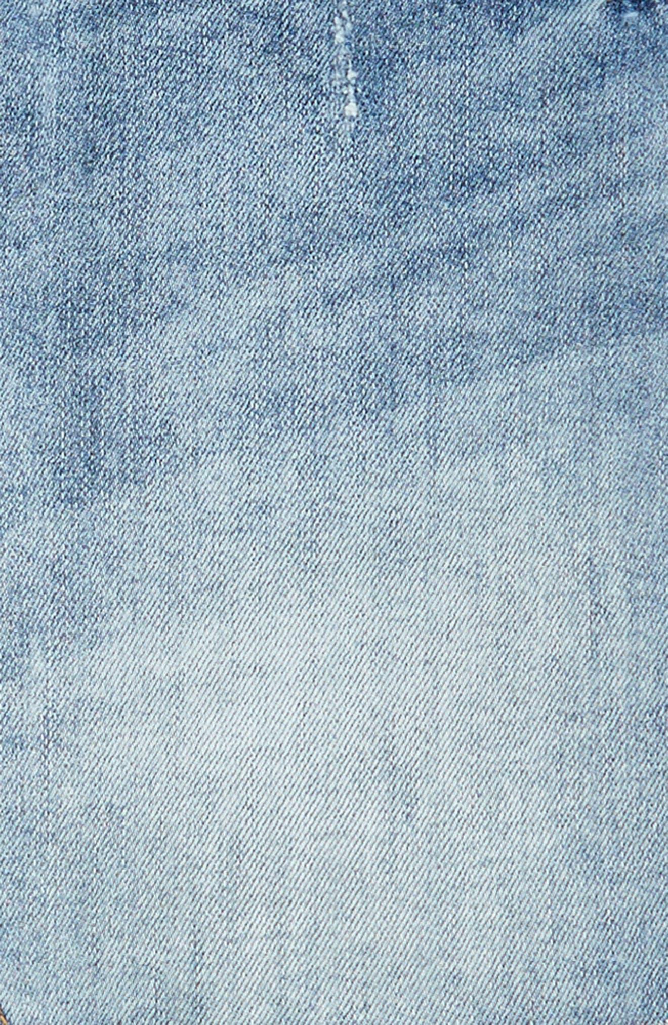Cutoff Denim Skirt,                             Alternate thumbnail 3, color,                             420