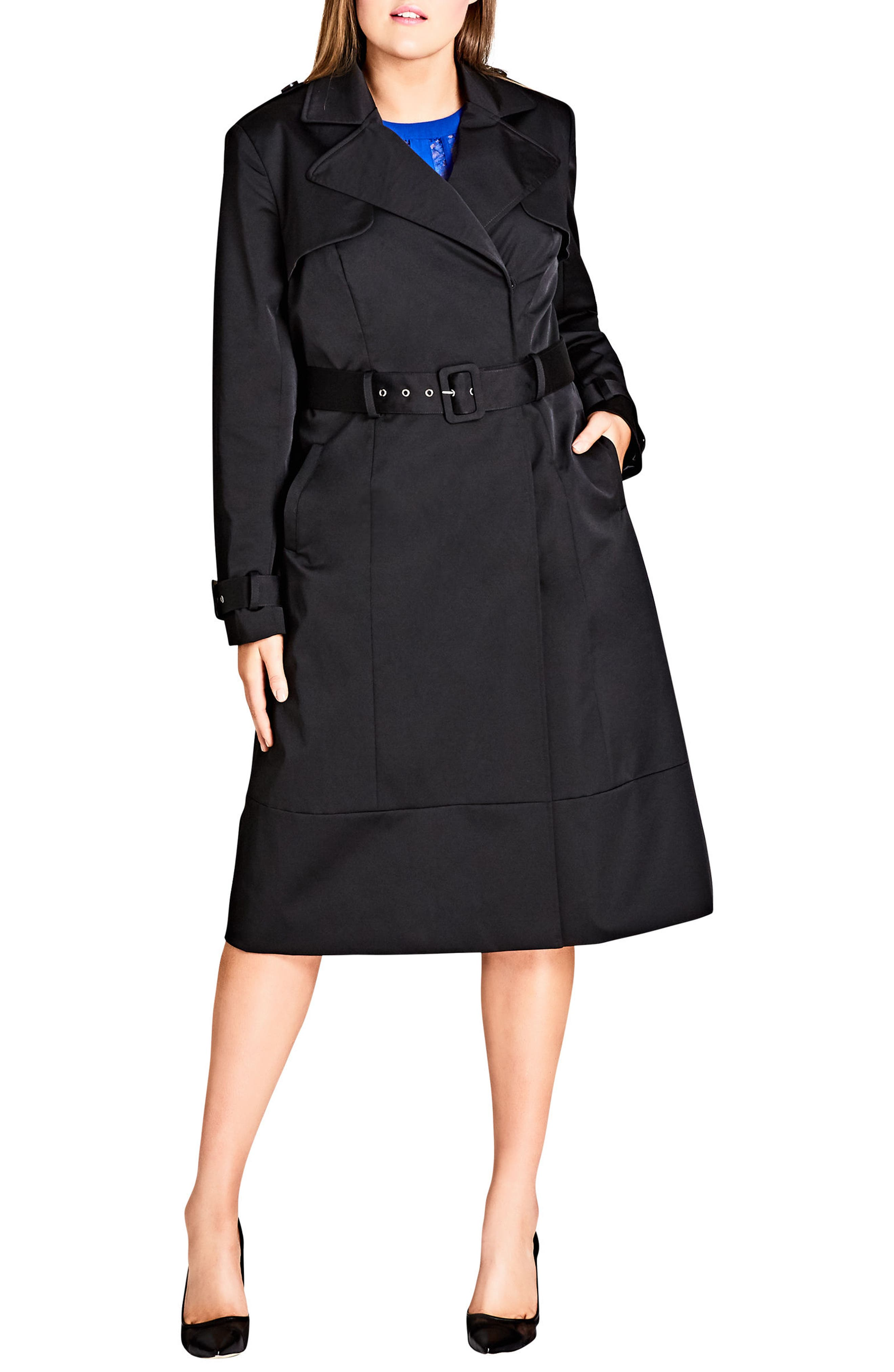 Classic Trench Coat,                             Alternate thumbnail 4, color,                             001