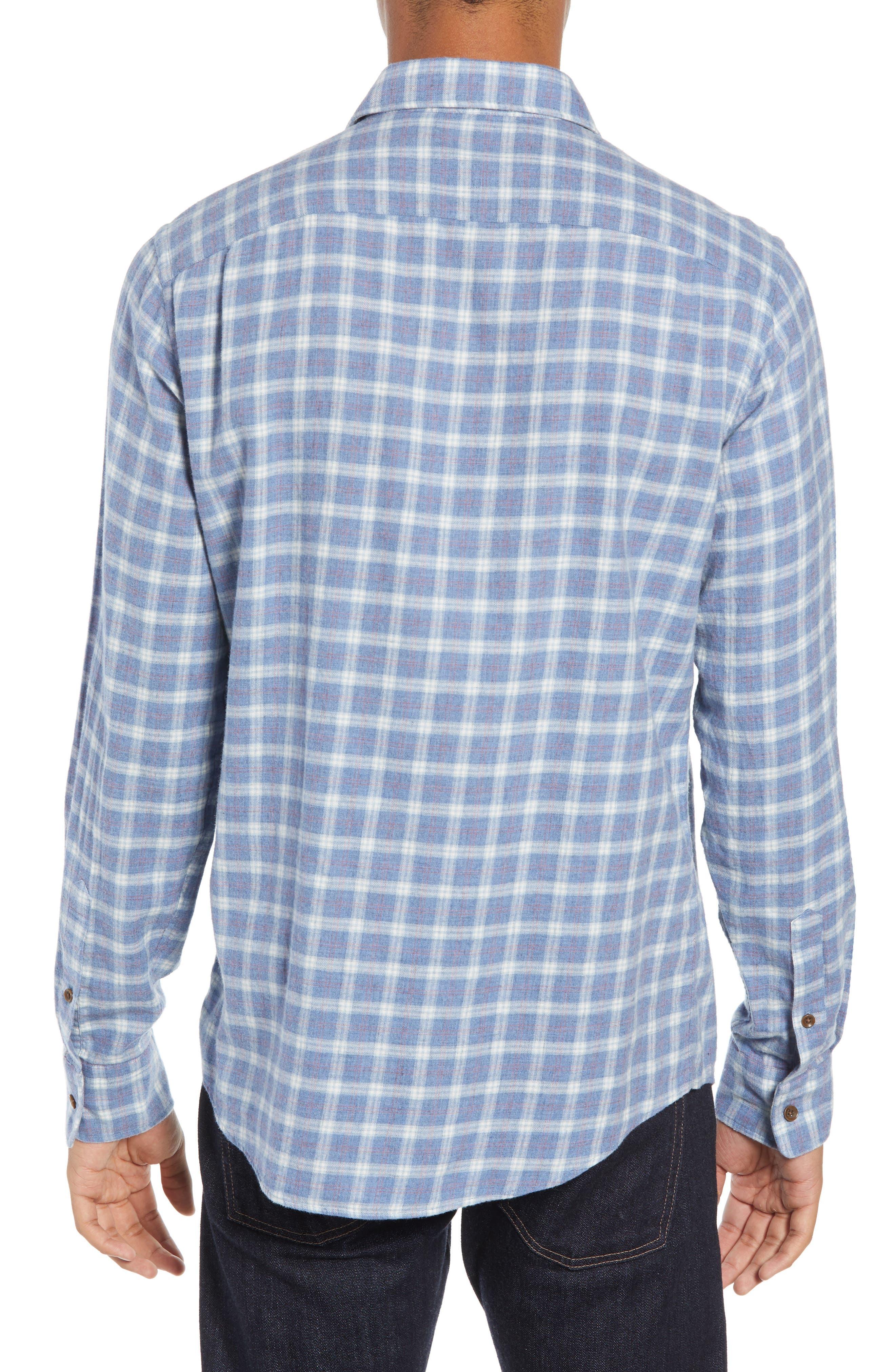Ventura Oxford Sport Shirt,                             Alternate thumbnail 3, color,                             HEATHER BLUE CHECK