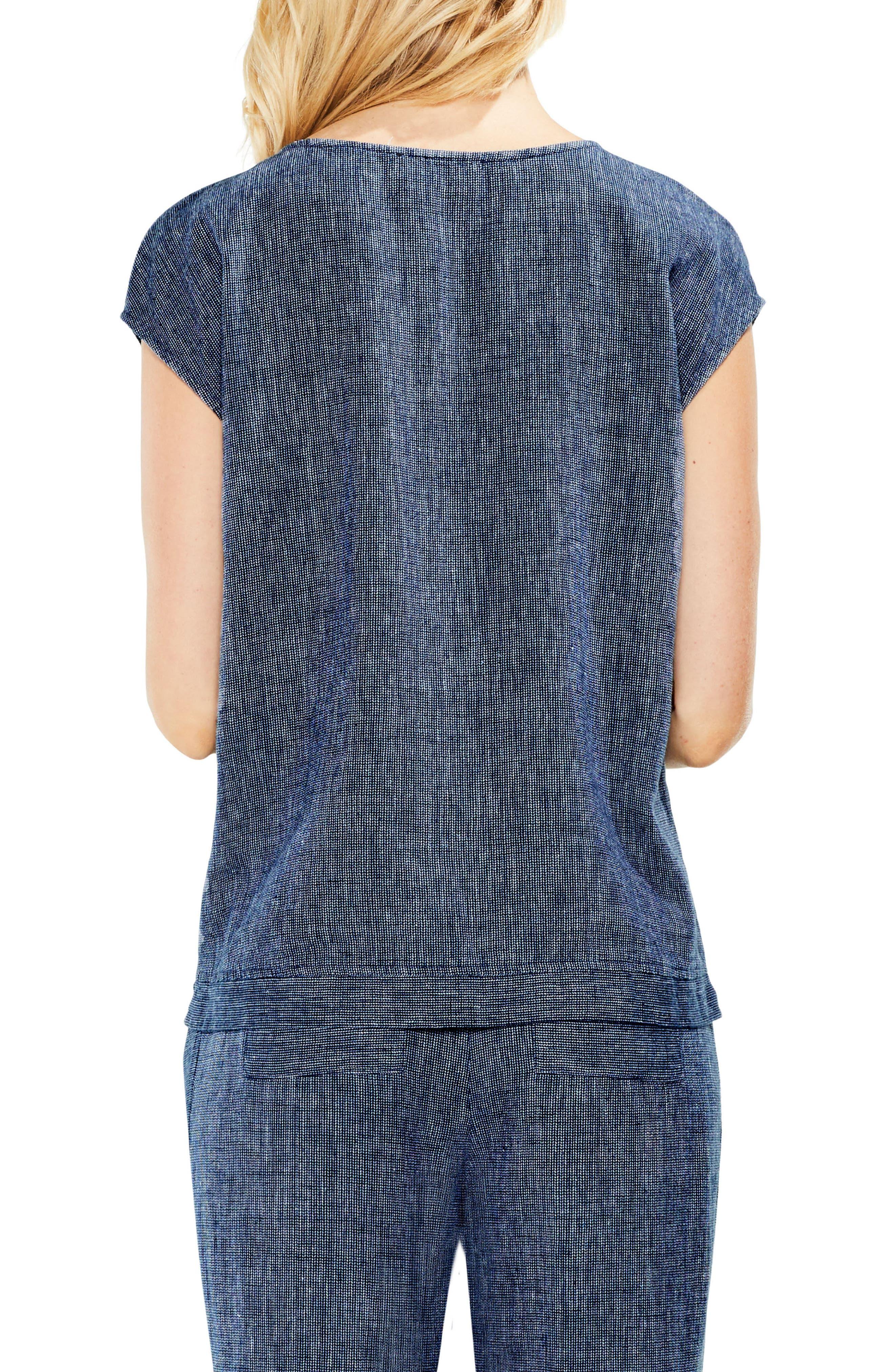 Drop Shoulder Linen Top,                             Alternate thumbnail 2, color,                             462