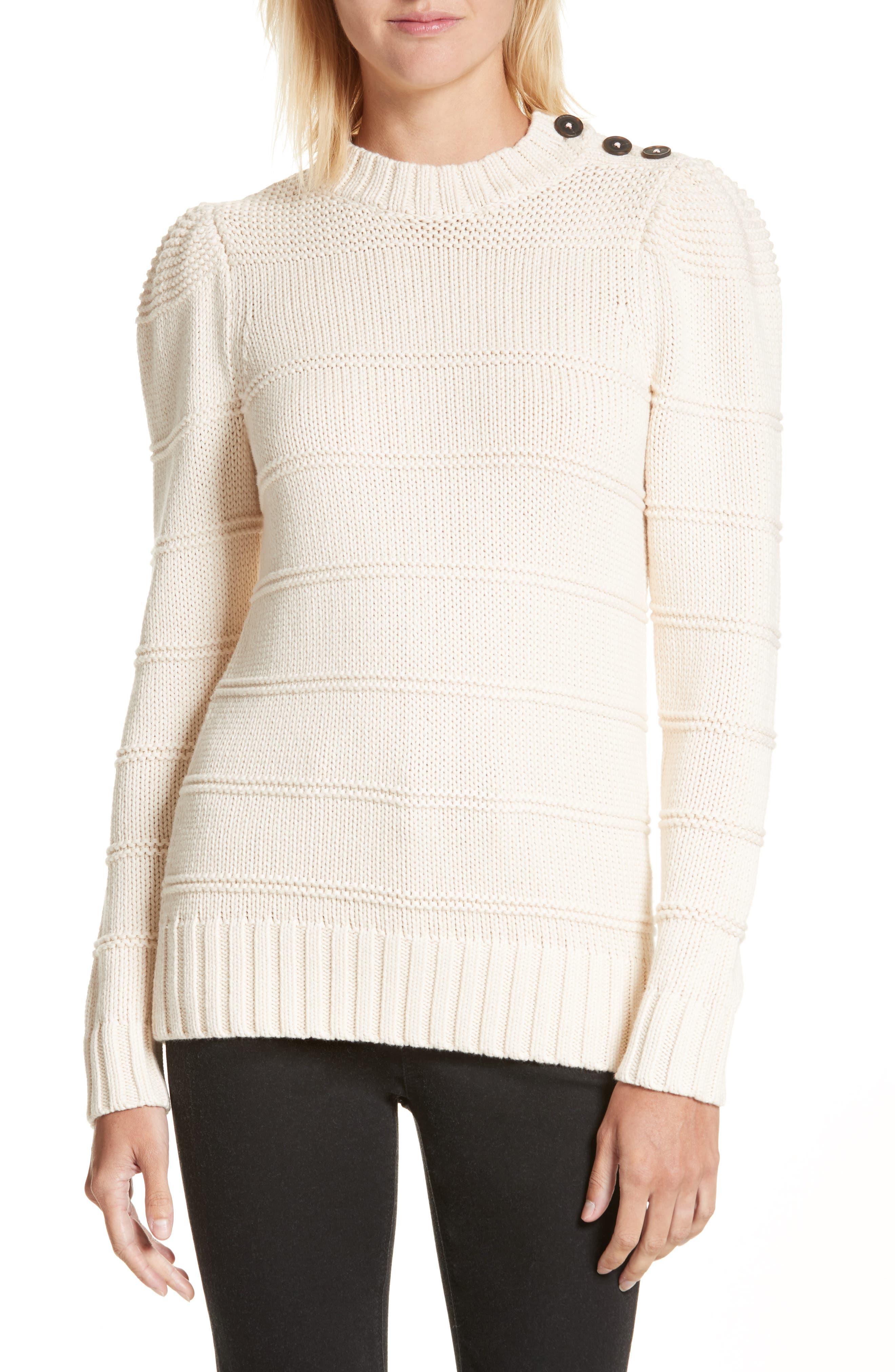 Stripe Cotton & Merino Wool Sweater,                             Main thumbnail 2, color,