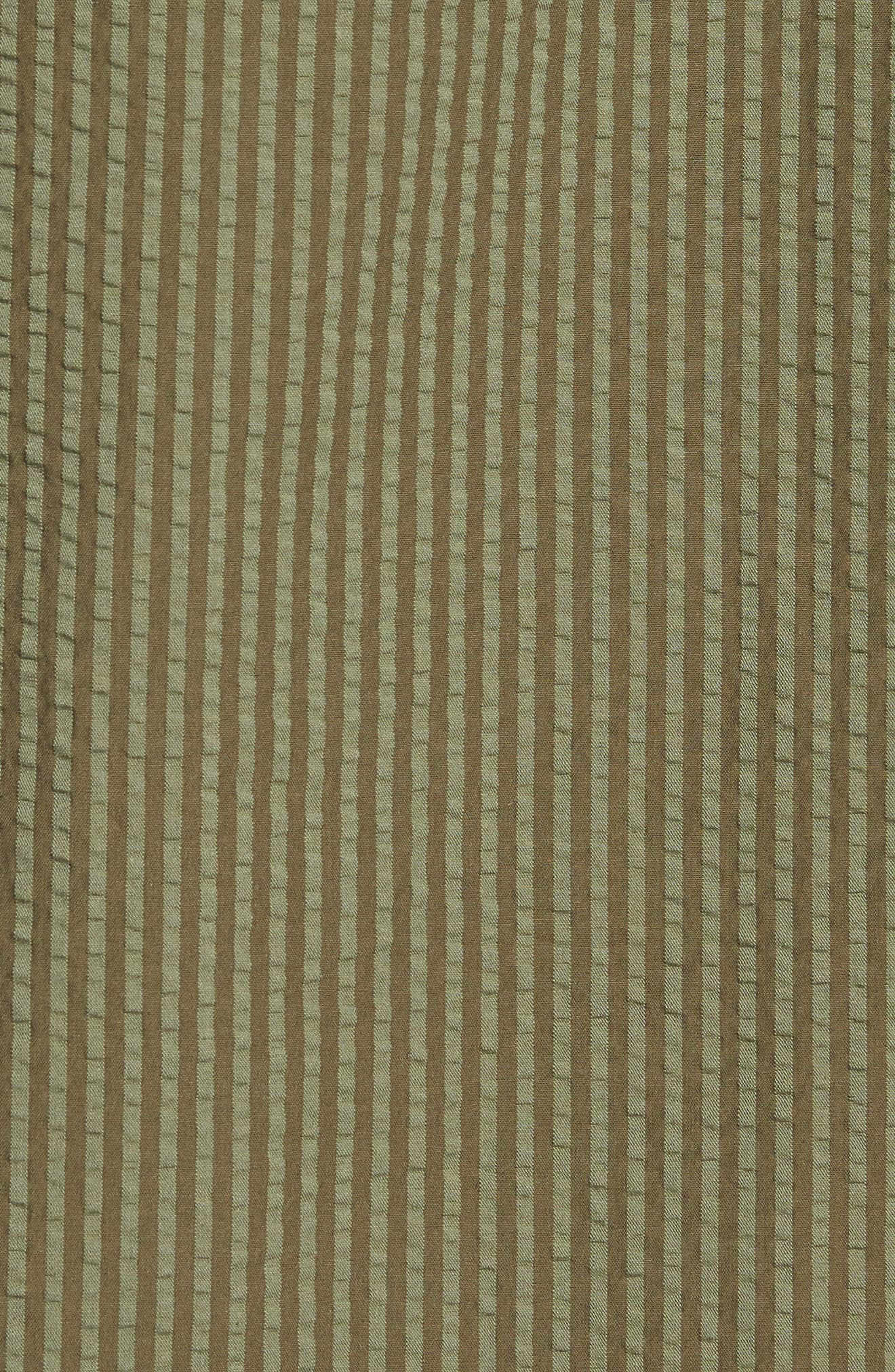 Slim Fit Stripe Seersucker Sport Shirt,                             Alternate thumbnail 5, color,                             SURPLUS WX2234