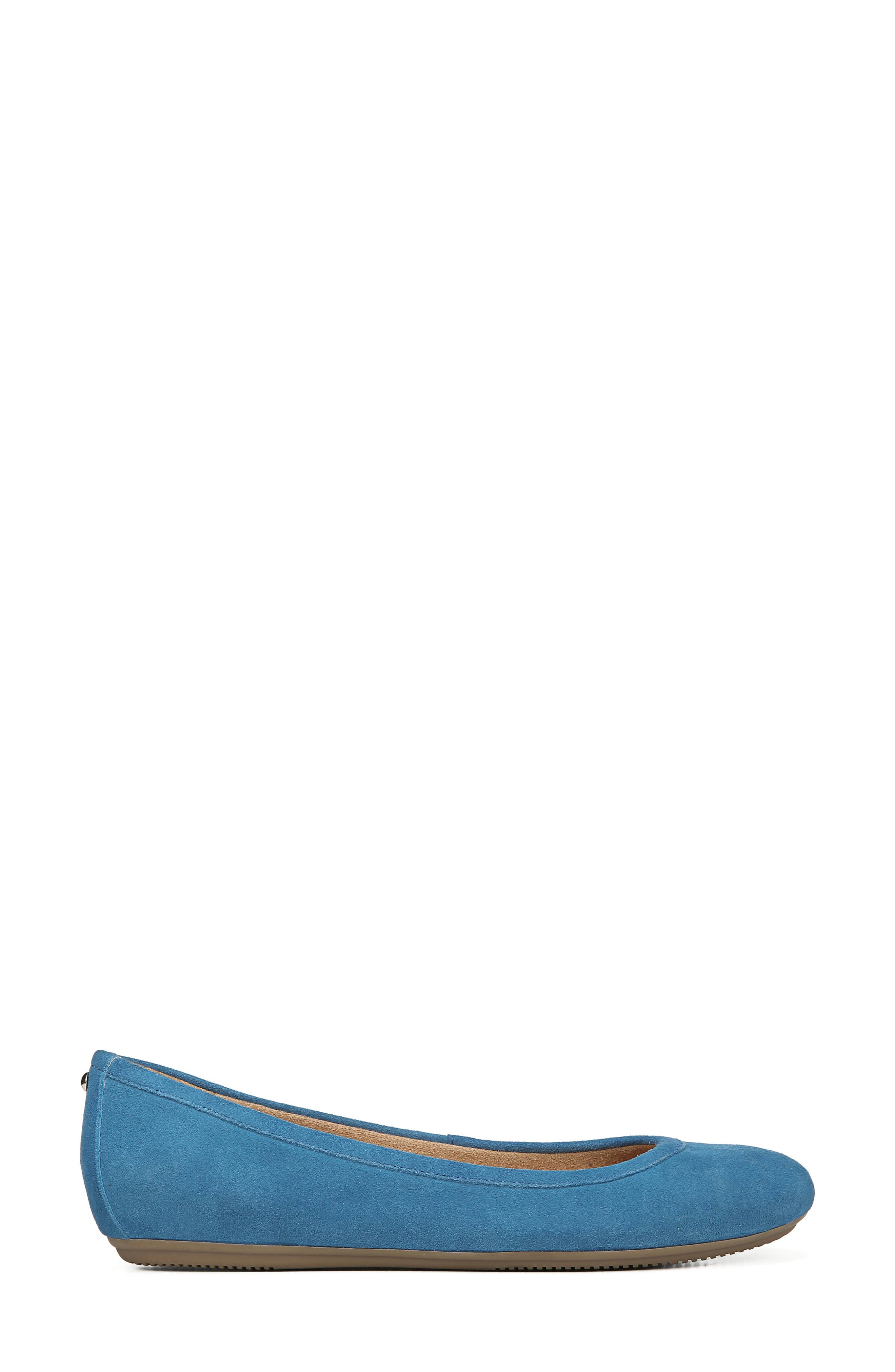 Brittany Flat,                             Alternate thumbnail 3, color,                             ADMIRAL BLUE LEATHER