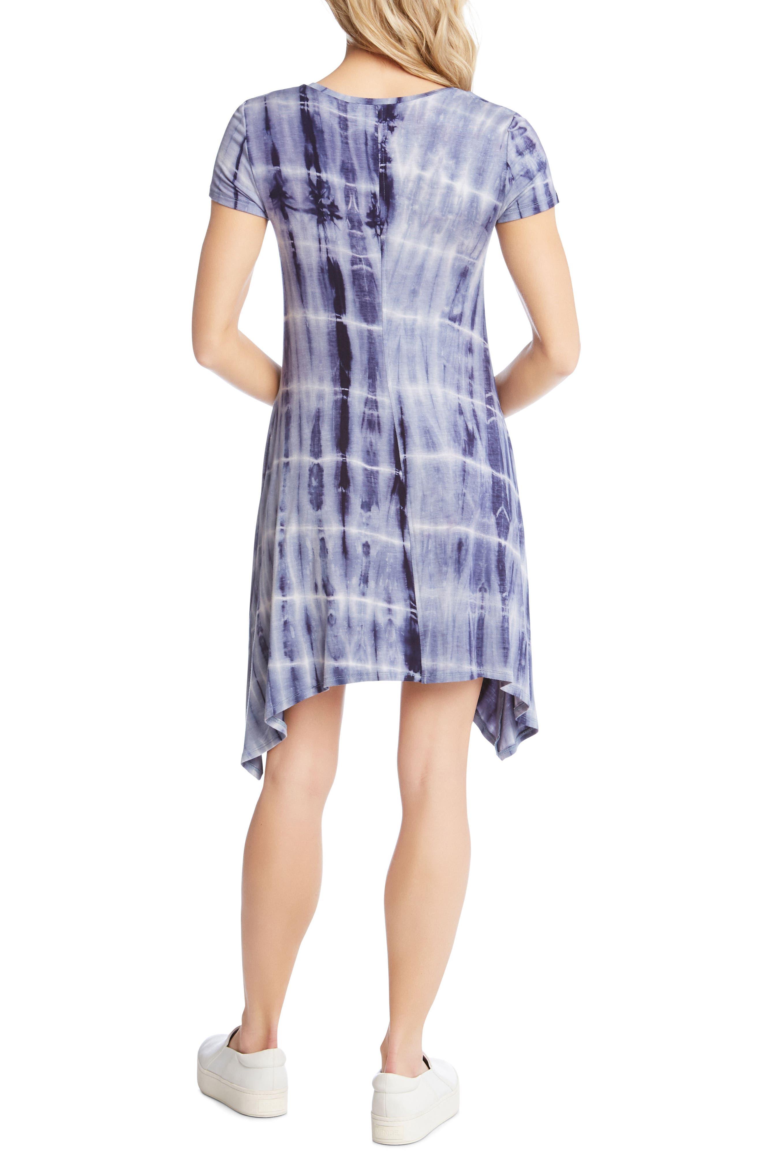 Tie Dye Sharkbite Hem Dress,                             Alternate thumbnail 2, color,                             437