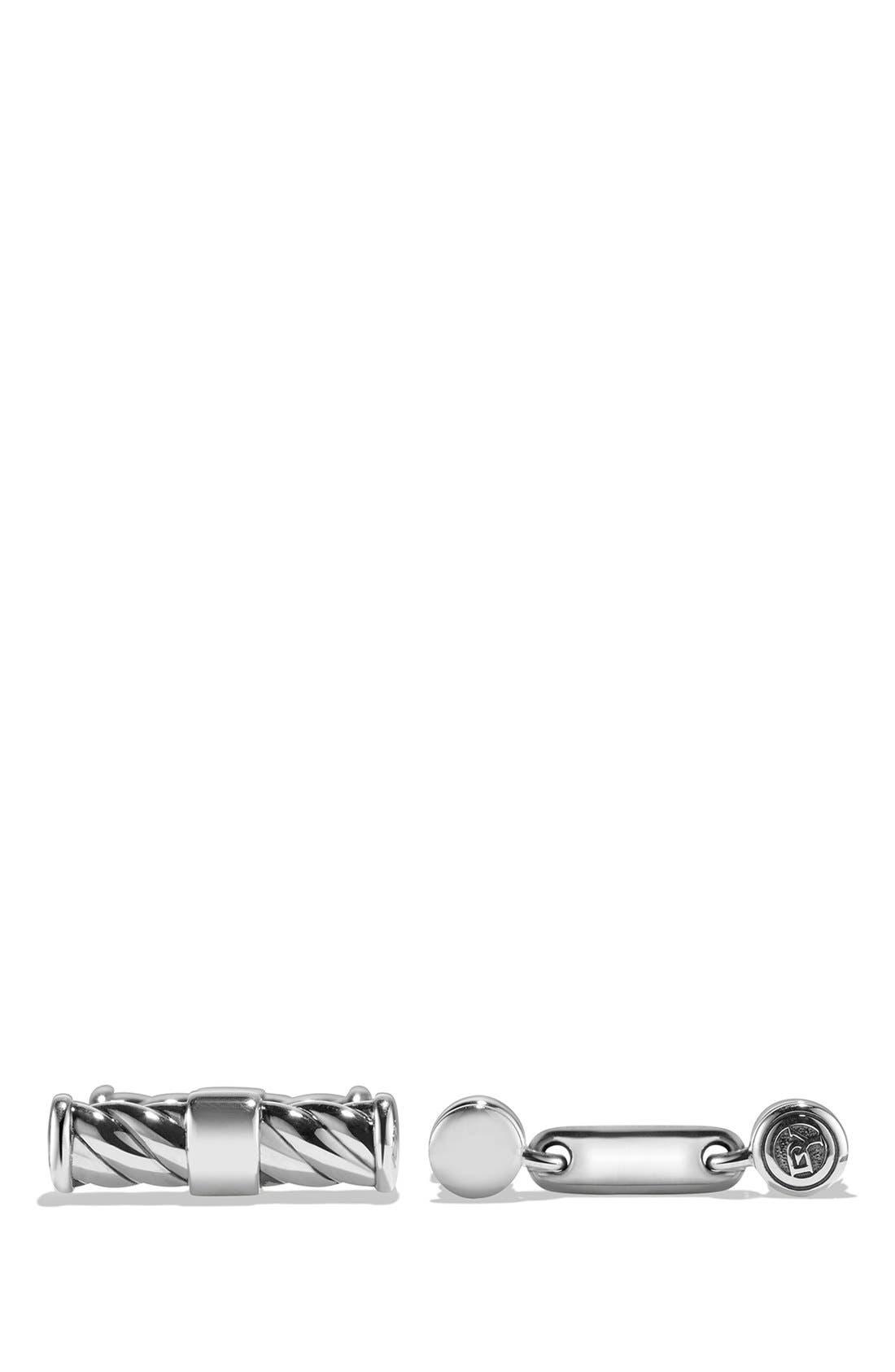 'Cable Classics' Cuff Links,                         Main,                         color, SILVER