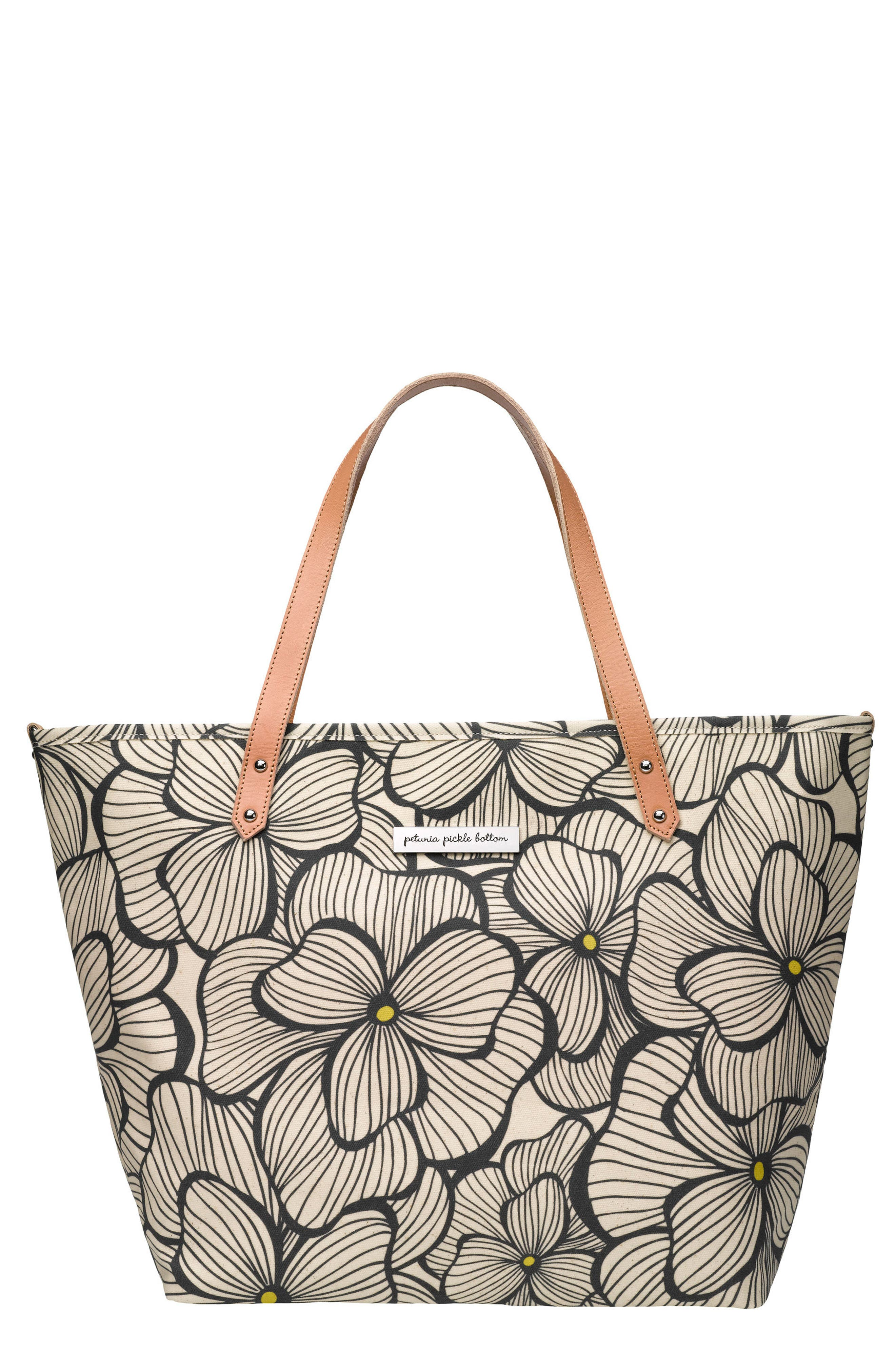 'Downtown' Glazed Canvas Tote,                             Main thumbnail 1, color,                             007