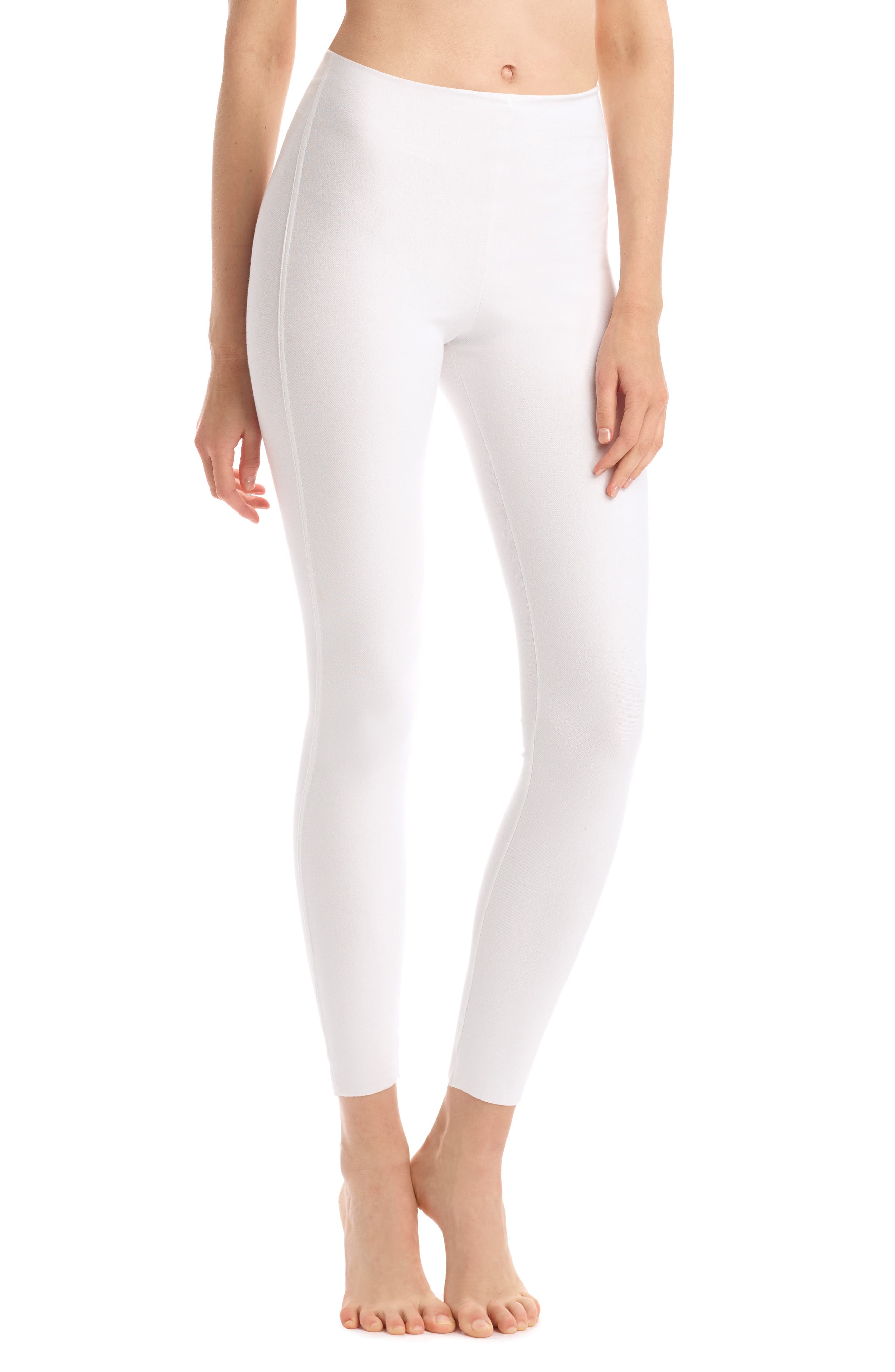 COMMANDO Perfect Control Faux Leather Leggings, Main, color, WHITE