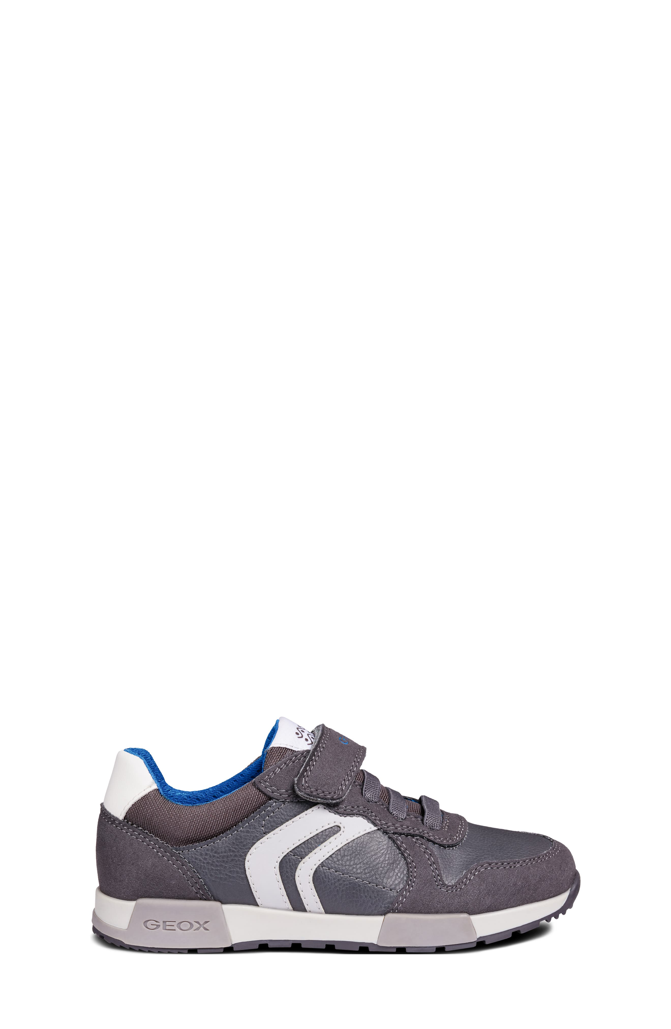 Alfier Boy Sneaker,                             Alternate thumbnail 3, color,                             DARK GREY/GREY