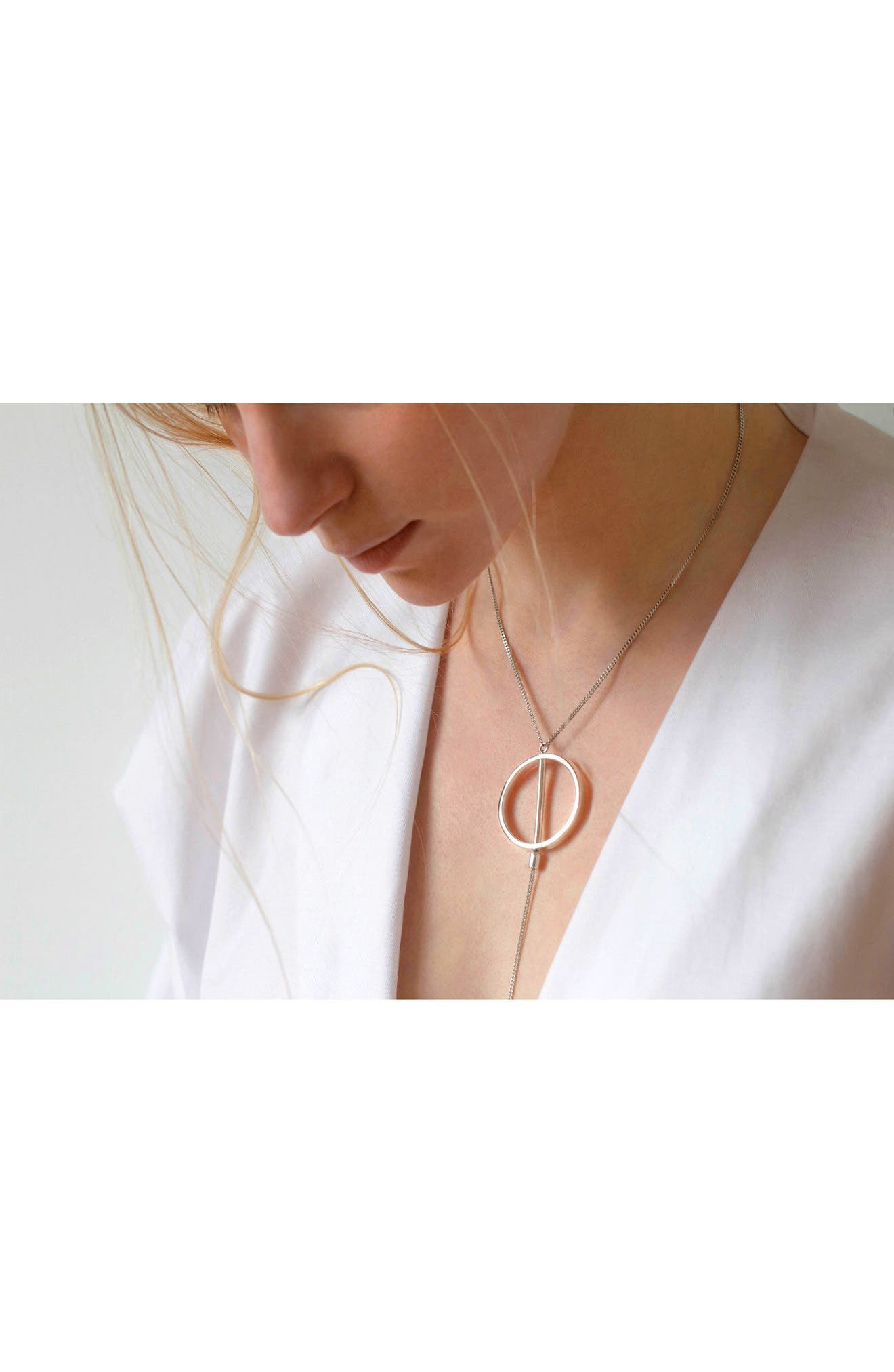 Rhine Lariat Necklace,                             Alternate thumbnail 4, color,                             SILVER