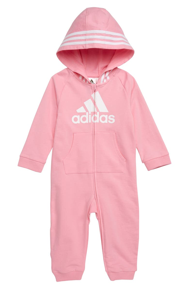 adidas Logo Hooded Romper (Baby)  d856728c8