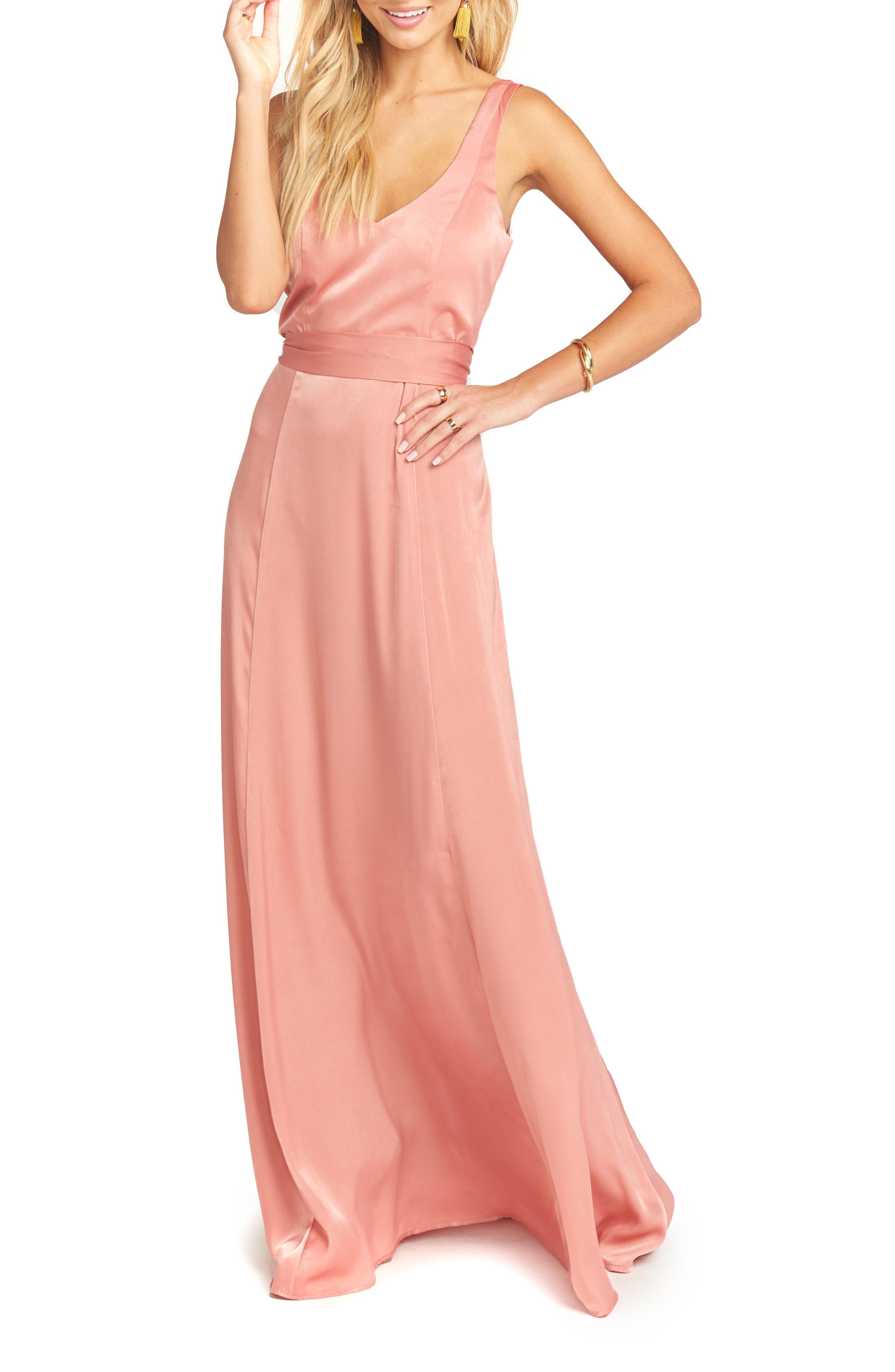 Jen Maxi Gown,                             Alternate thumbnail 3, color,                             RUSTIC MAUVE SHEEN