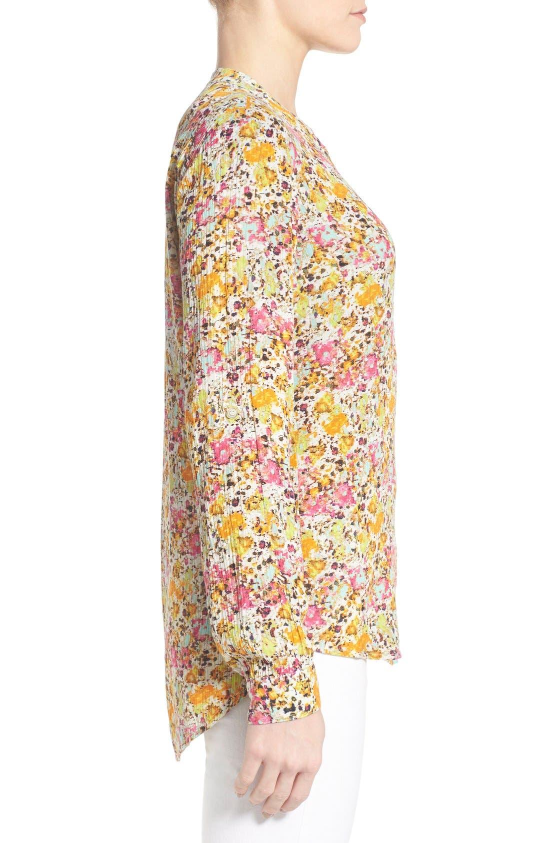 'Jasmine' Floral Print Roll Sleeve Blouse,                             Alternate thumbnail 2, color,                             301