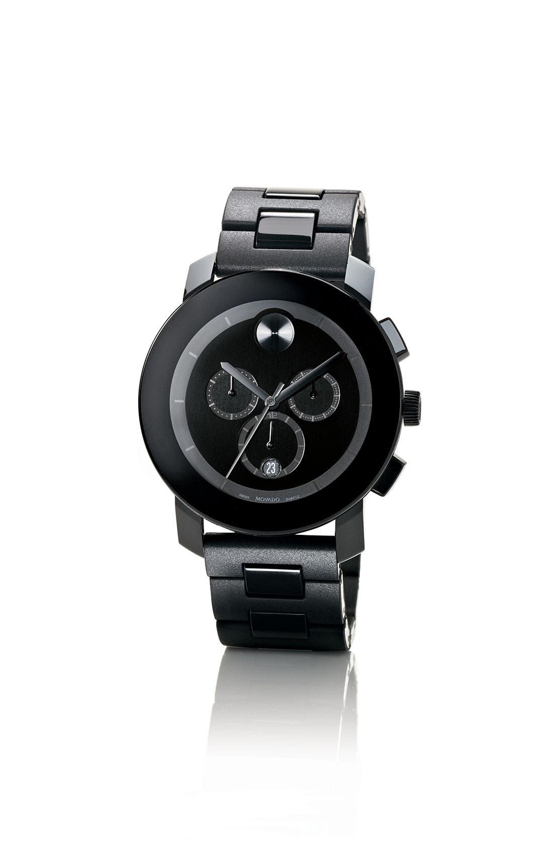 MOVADO,                             'Bold Chrono' Bracelet Watch, 43mm,                             Alternate thumbnail 2, color,                             001