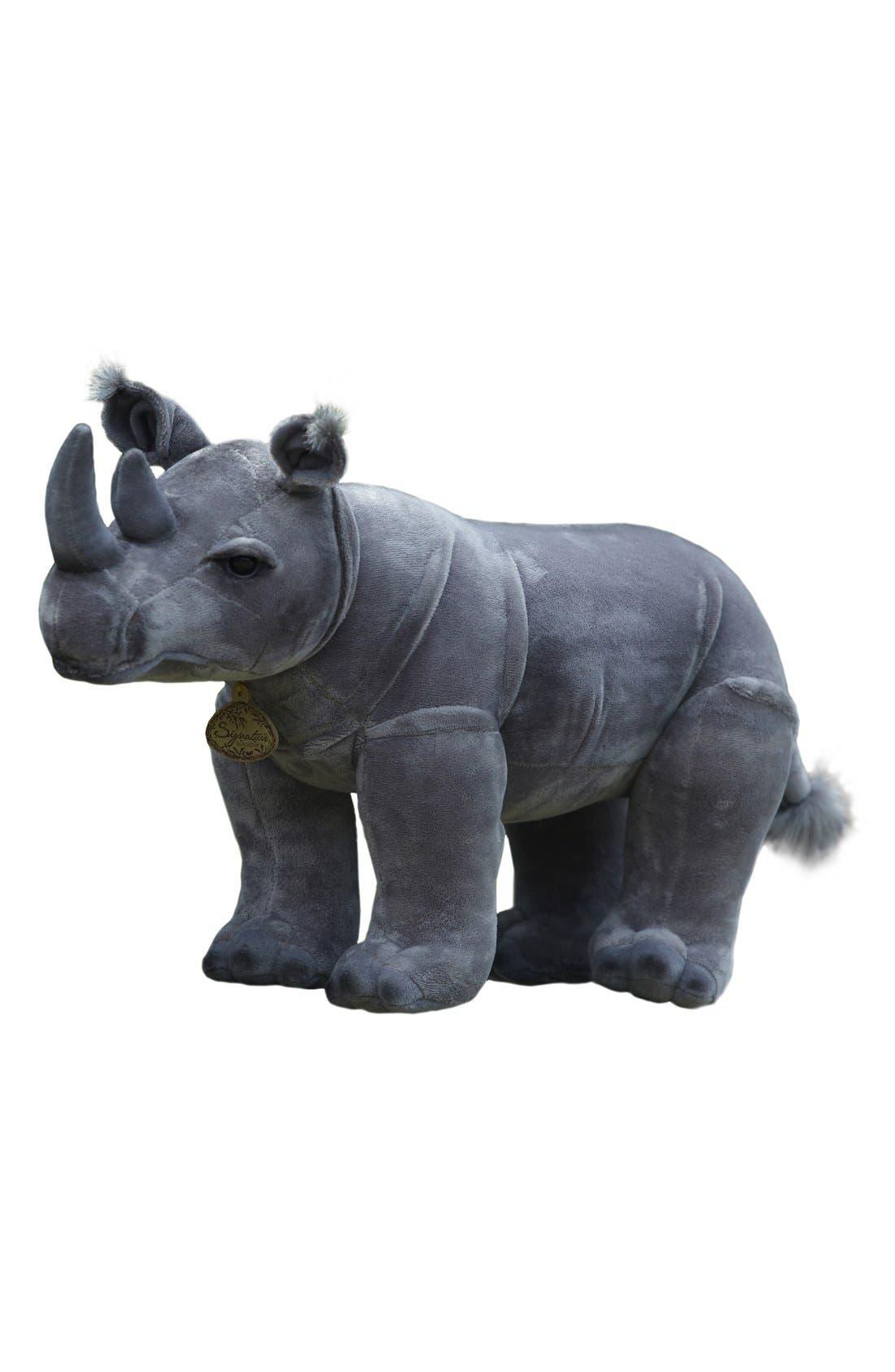 'Black Rhinoceros' Stuffed Animal,                         Main,                         color, GREY