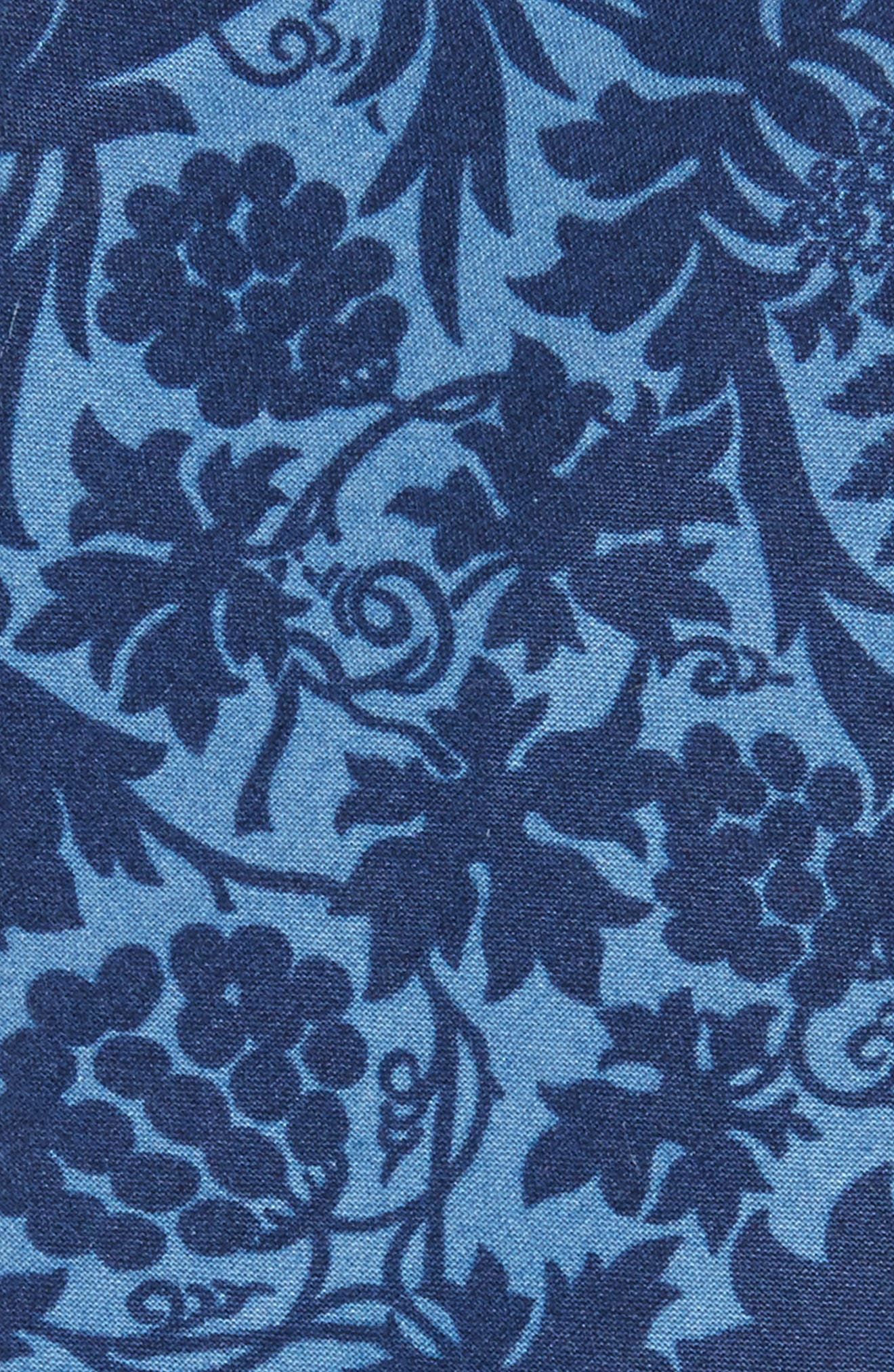Floral Cotton Skinny Tie,                             Alternate thumbnail 2, color,                             425