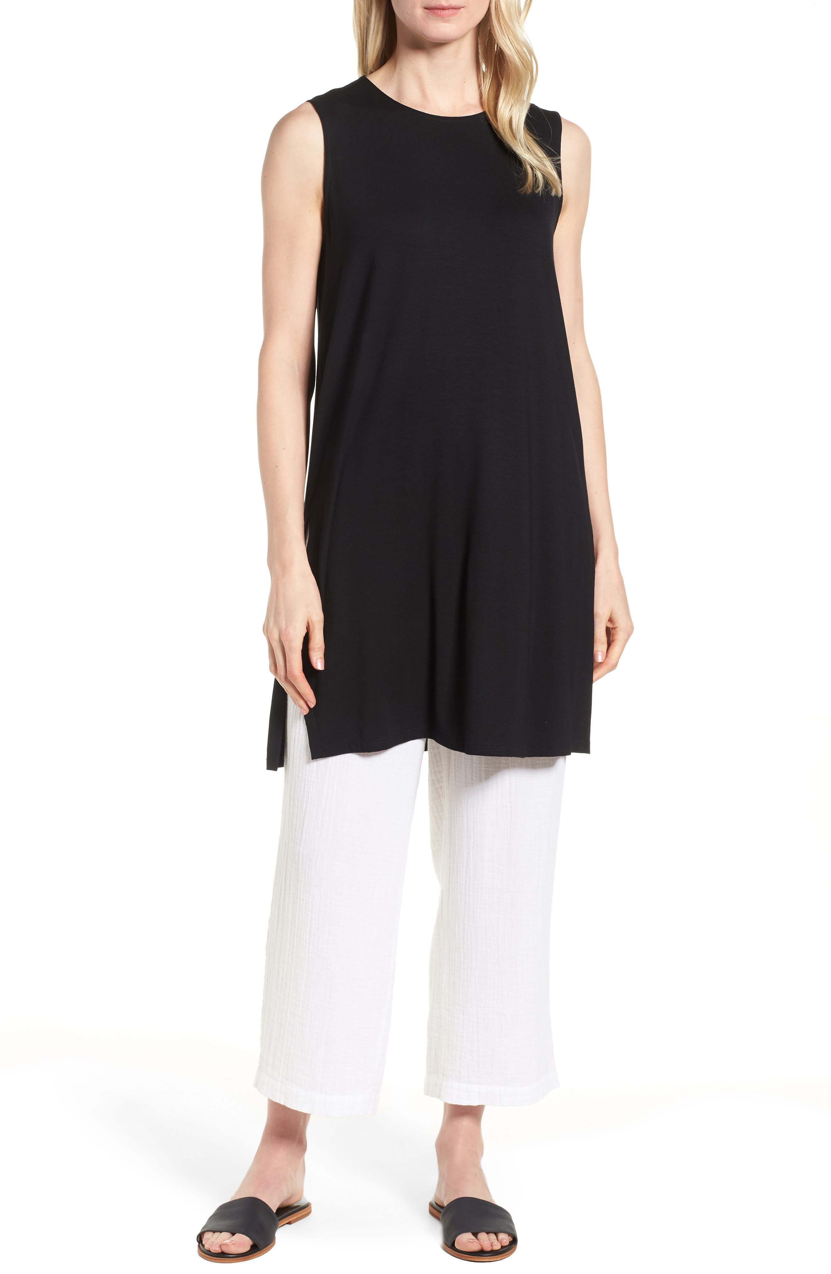Long Jersey Tunic,                         Main,                         color, 001