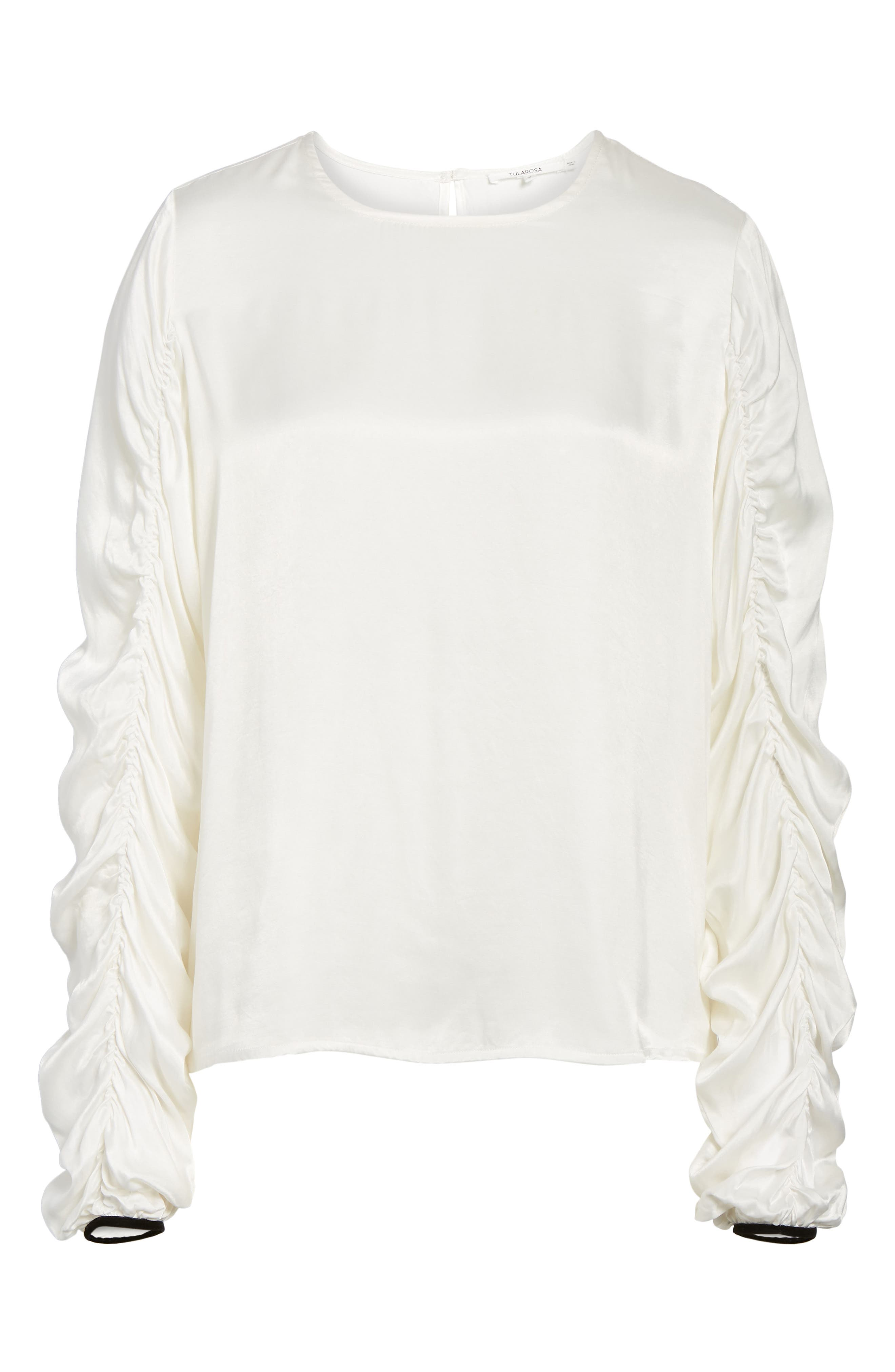 Lexi Ruched Sleeve Top,                             Alternate thumbnail 6, color,                             900