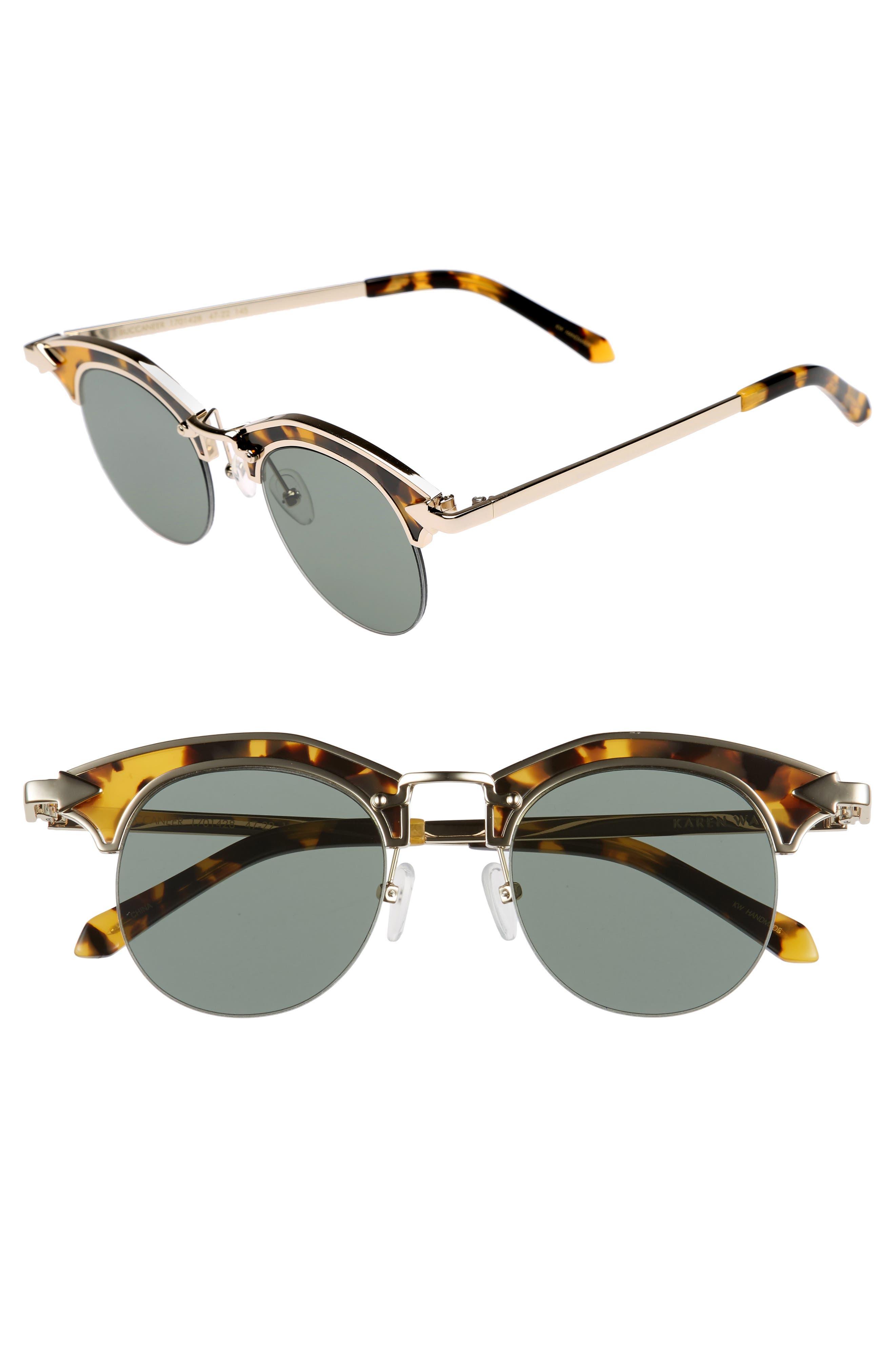 Buccaneer 47mm Round Sunglasses,                             Main thumbnail 2, color,