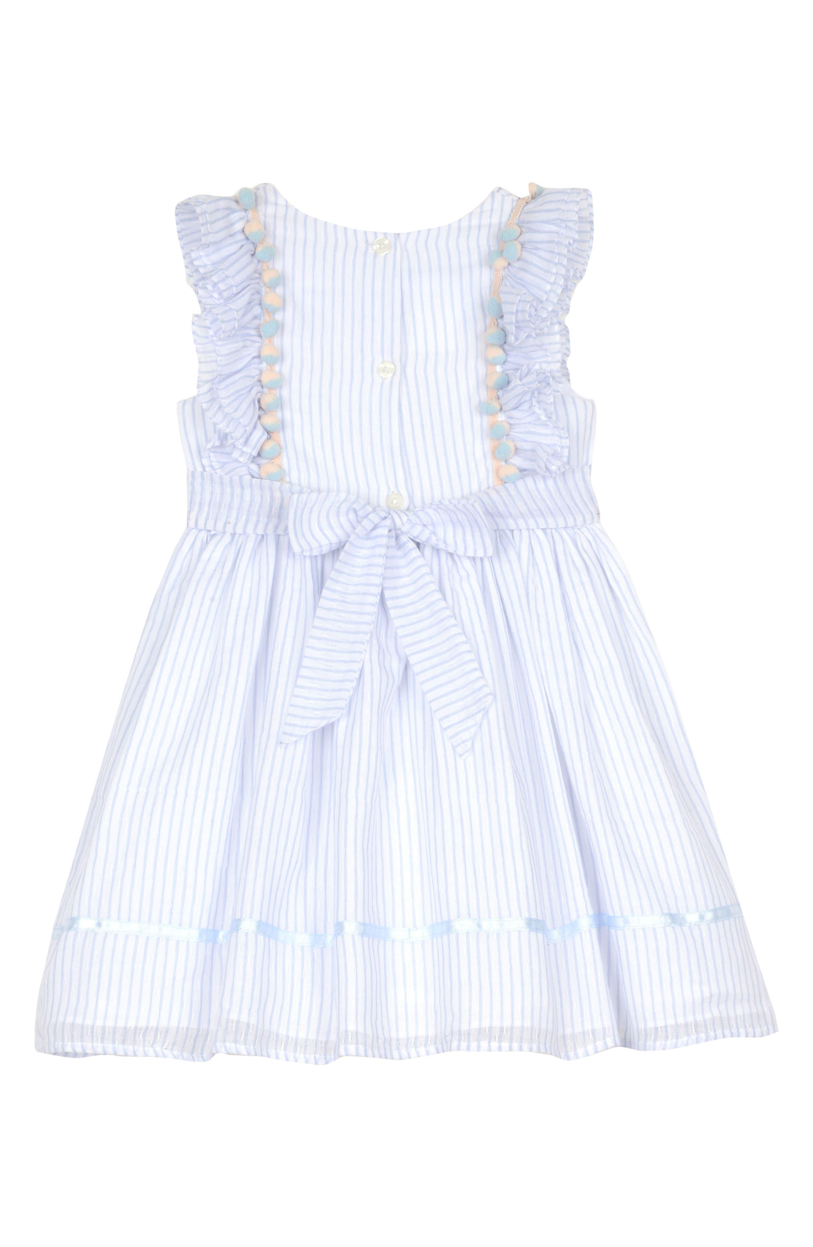 Ruffle Stripe Dress,                             Alternate thumbnail 2, color,                             402