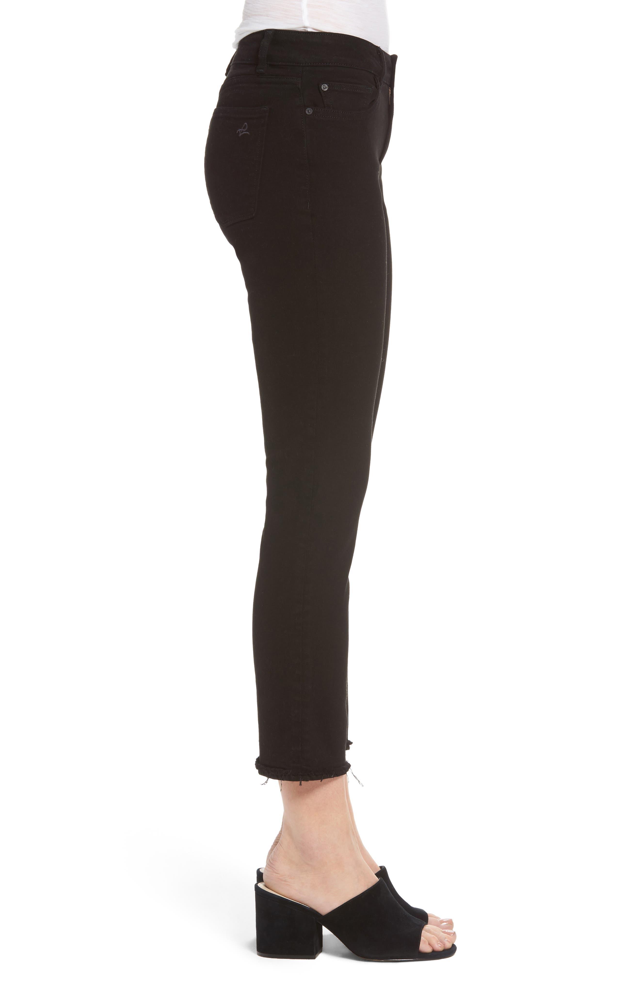 Mara Straight Leg Jeans,                             Alternate thumbnail 3, color,                             001