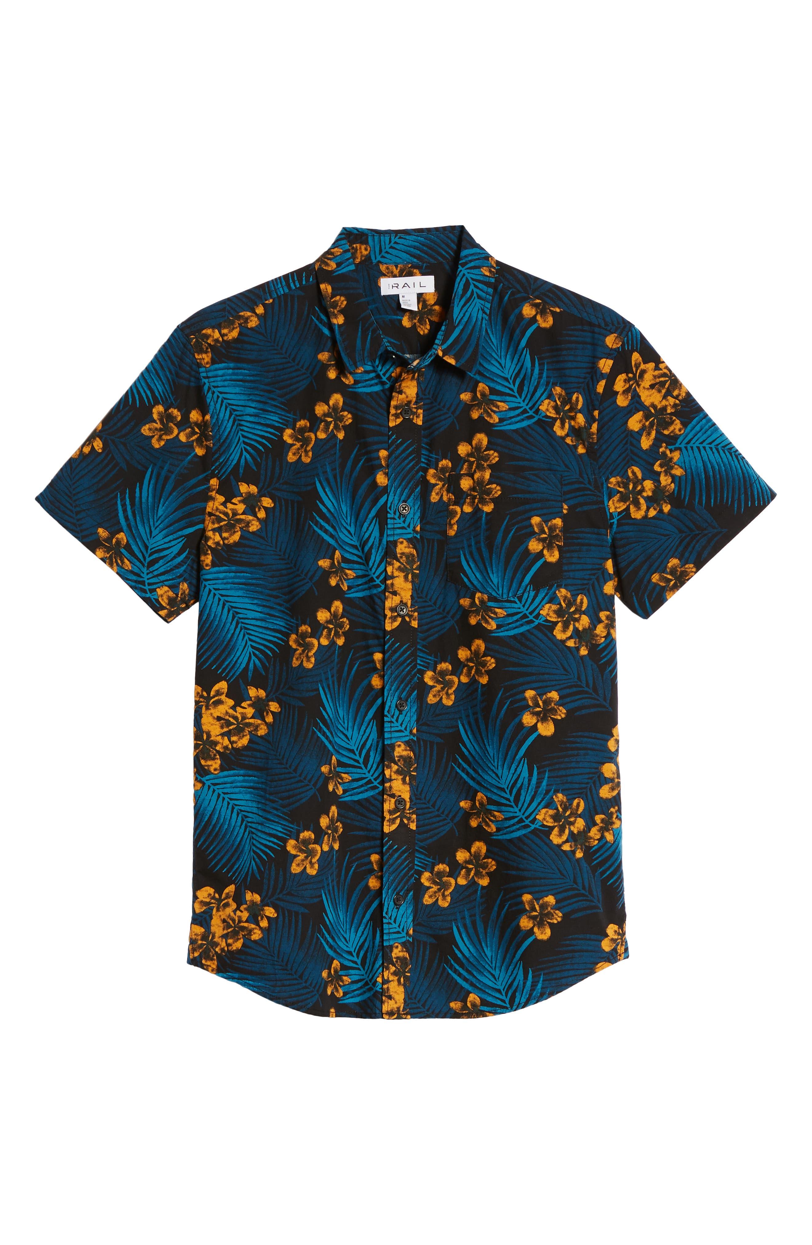 Short Sleeve Print Poplin Shirt,                             Alternate thumbnail 26, color,
