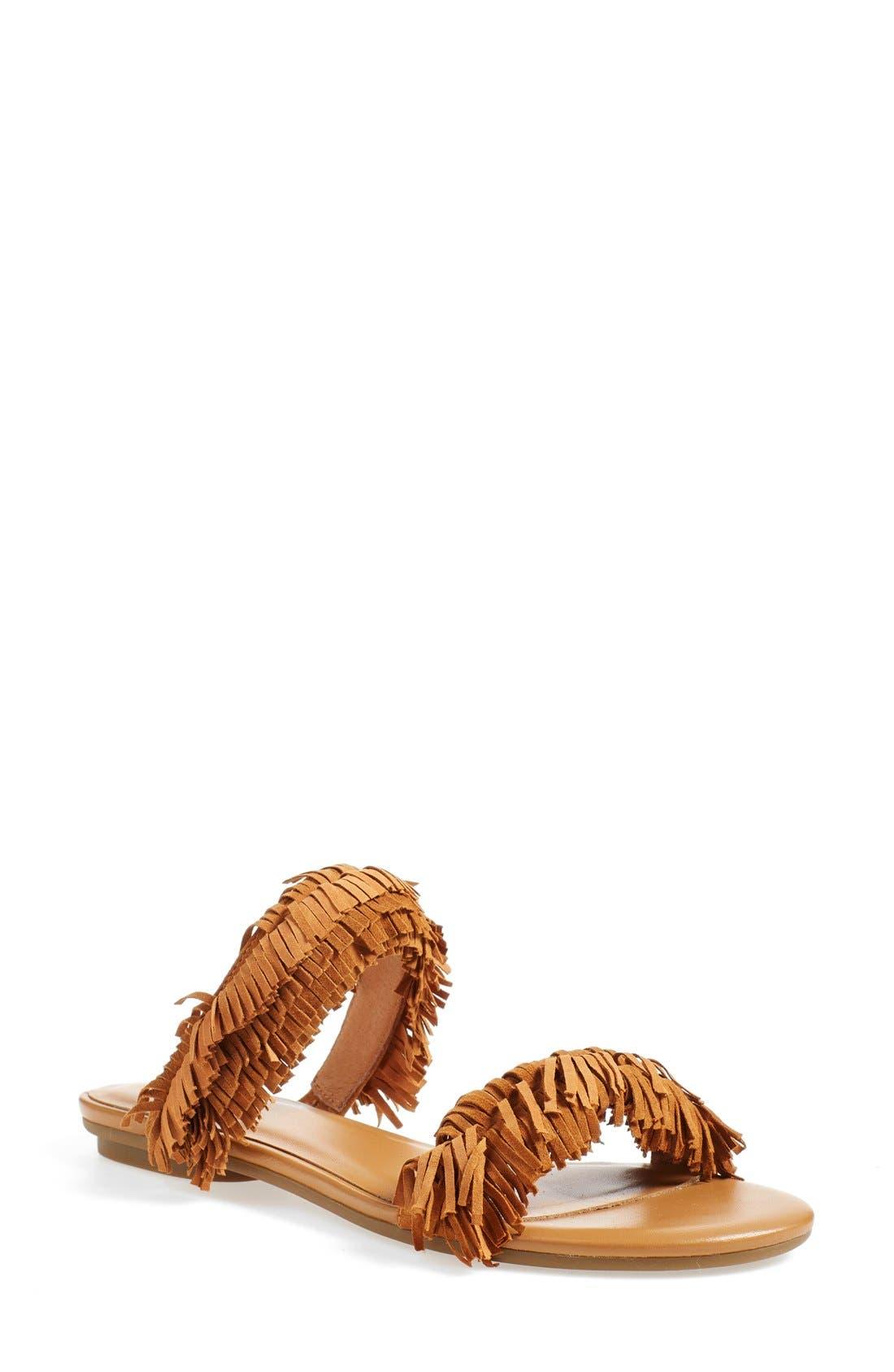 'Pippa' Fringe Slide Sandal,                         Main,                         color, 229