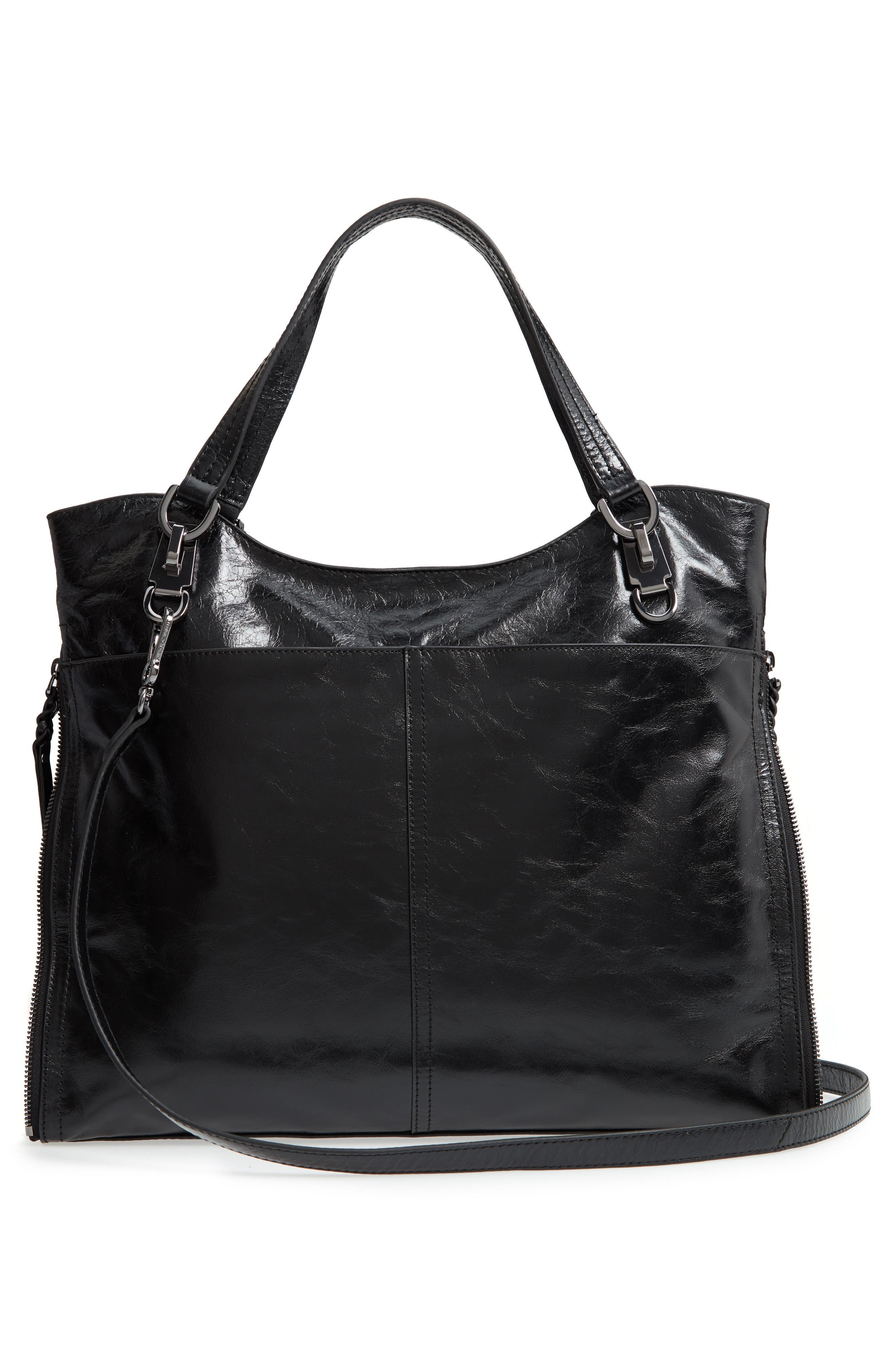 VINCE CAMUTO,                             Narra Leather Tote,                             Alternate thumbnail 3, color,                             002