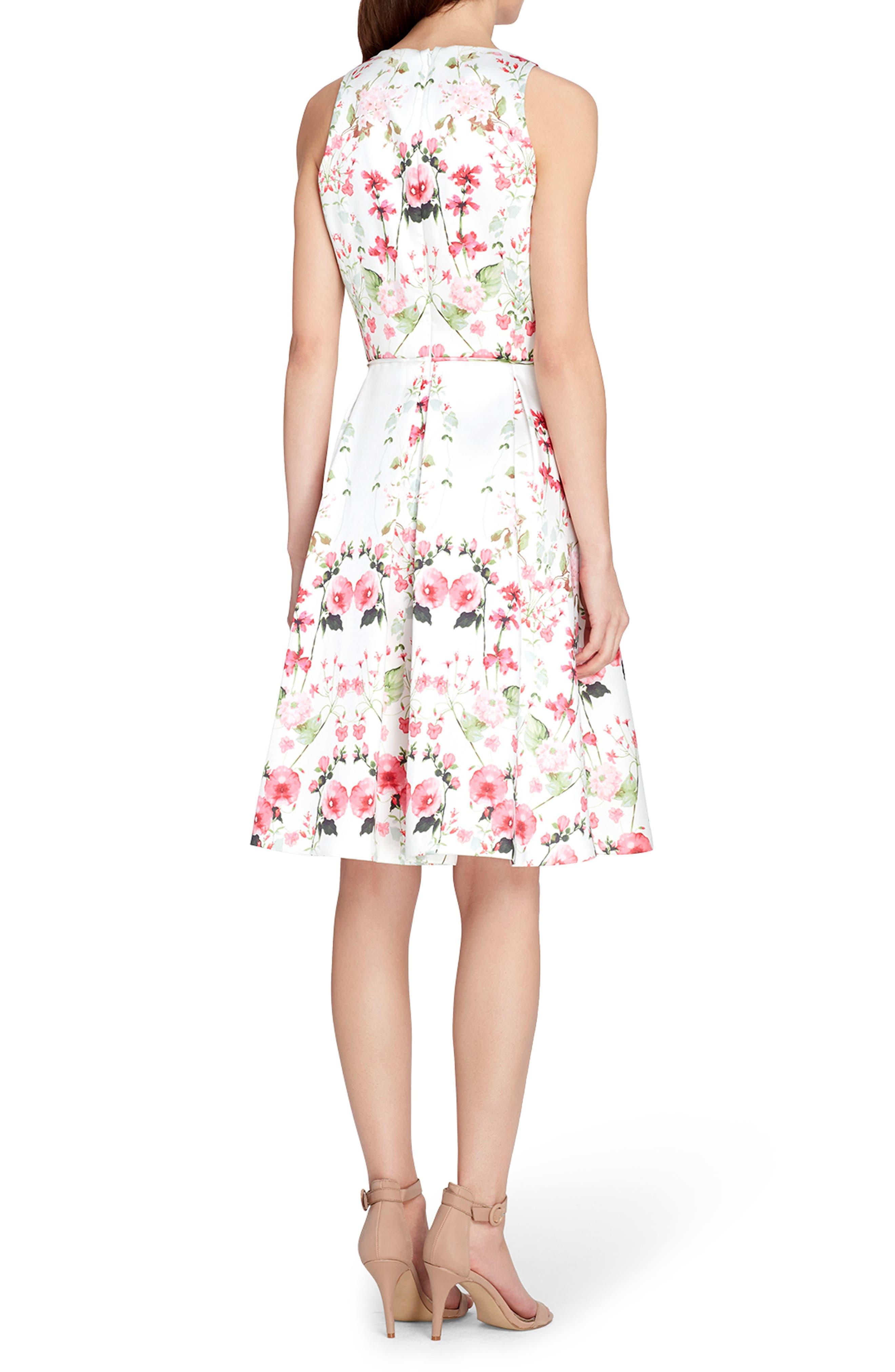 Micado Floral Print Fit & Flare Dress,                             Alternate thumbnail 2, color,                             907