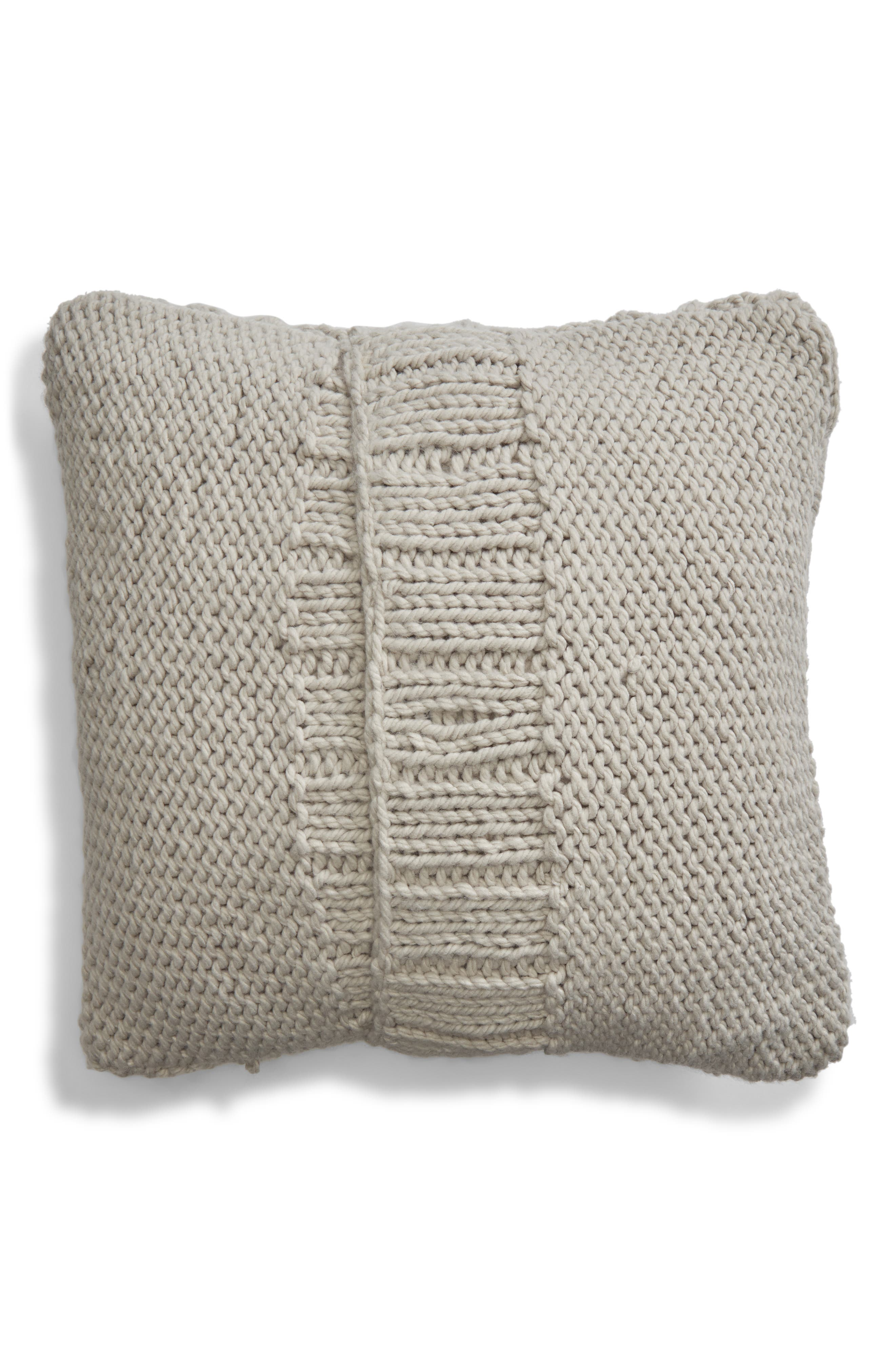 Chunky Cable Knit Accent Pillow,                             Alternate thumbnail 2, color,                             020