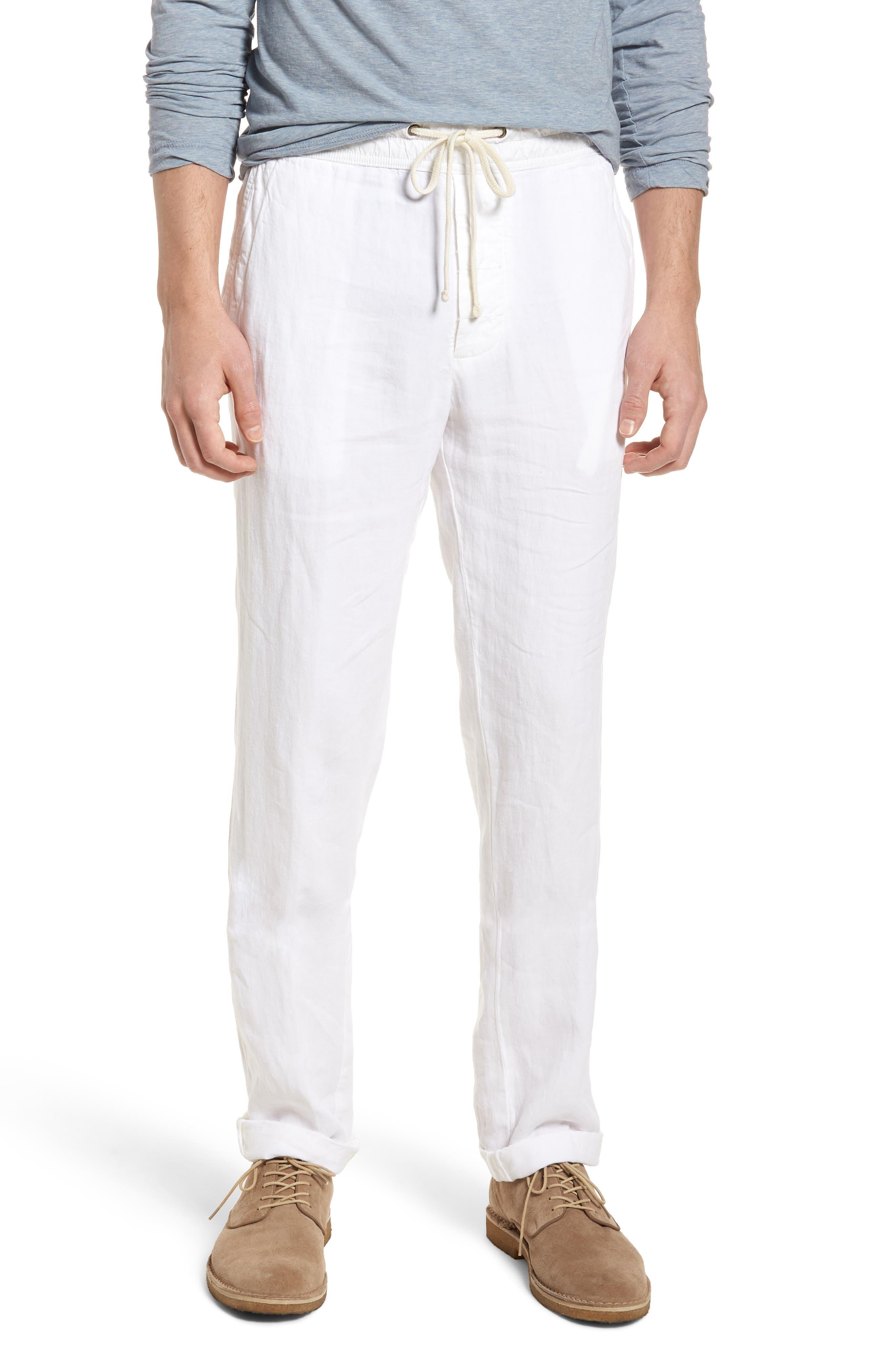 Slim Fit Linen Utility Pants,                         Main,                         color, 100