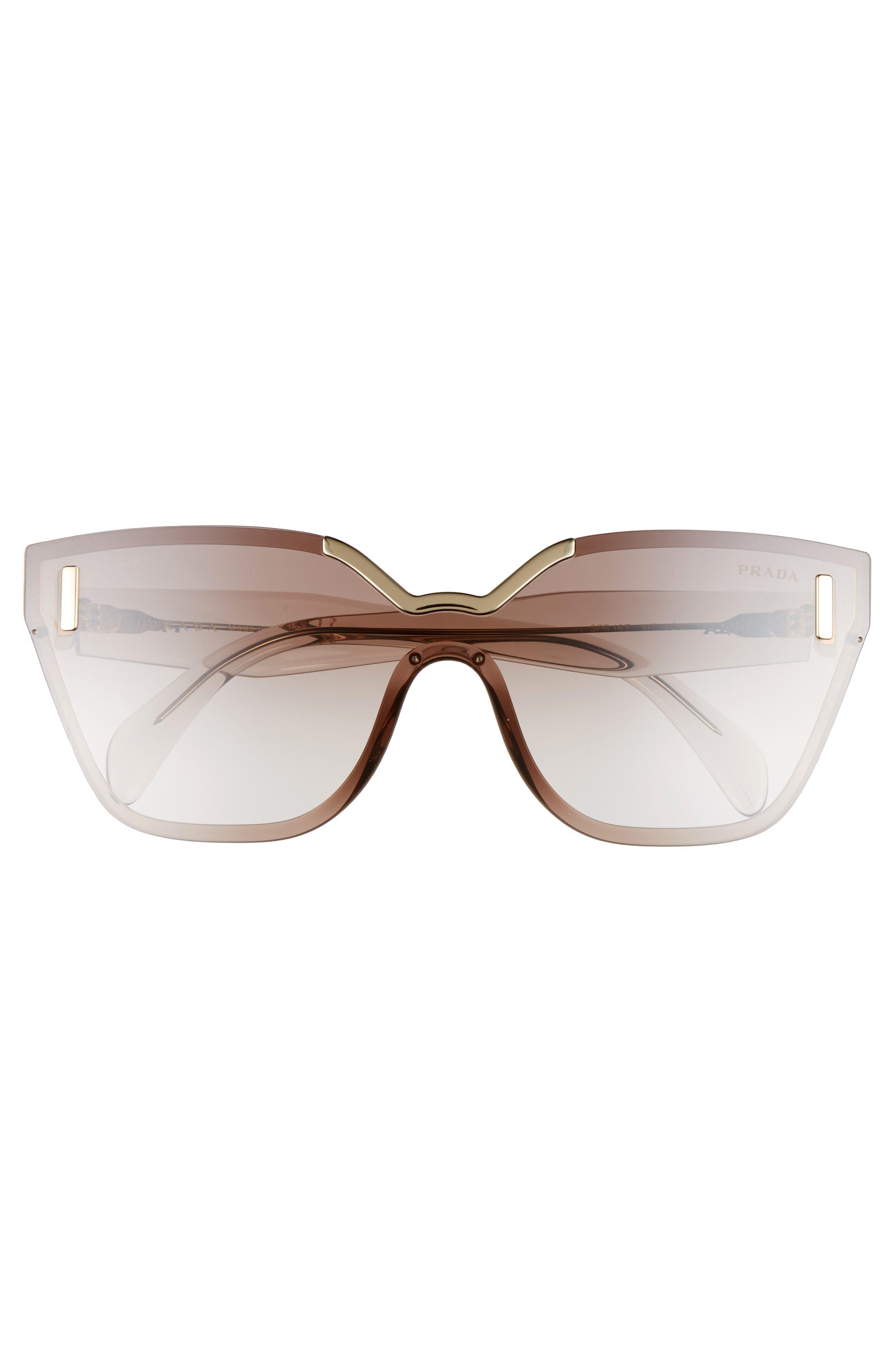 61mm Mirrored Shield Sunglasses,                             Alternate thumbnail 3, color,                             200