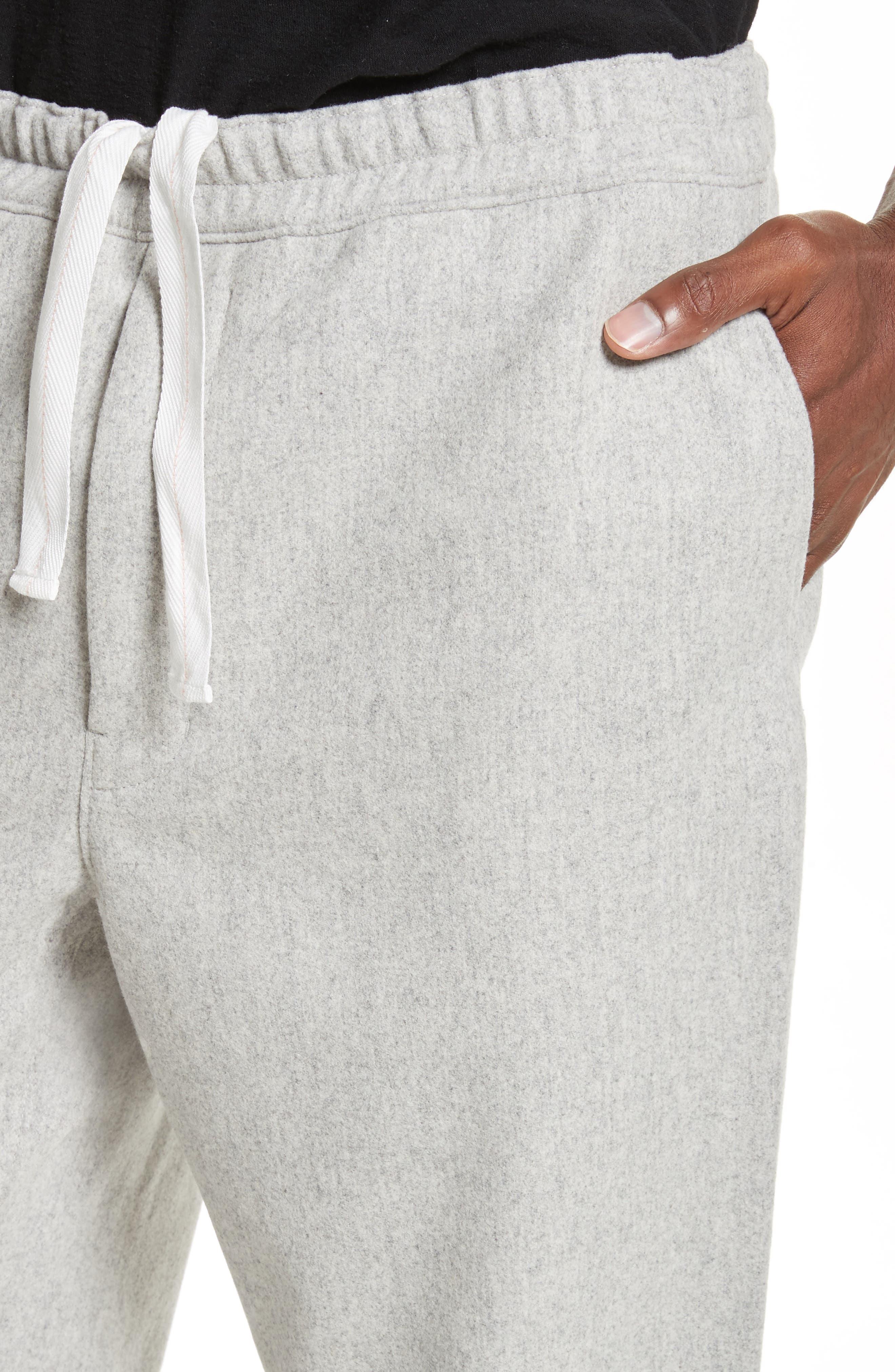 Mélange Wool Blend Trousers,                             Alternate thumbnail 5, color,                             020