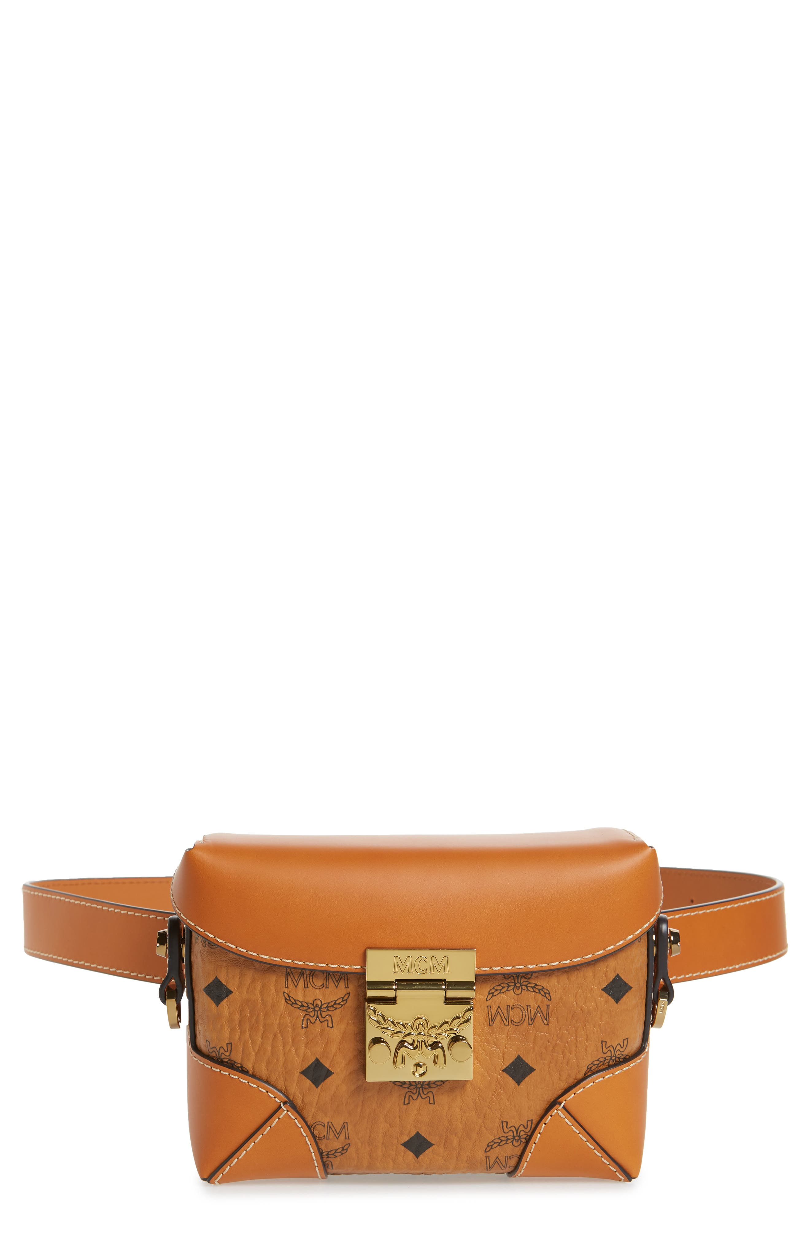 Small Berlin Canvas & Leather Belt Bag,                             Main thumbnail 1, color,                             200